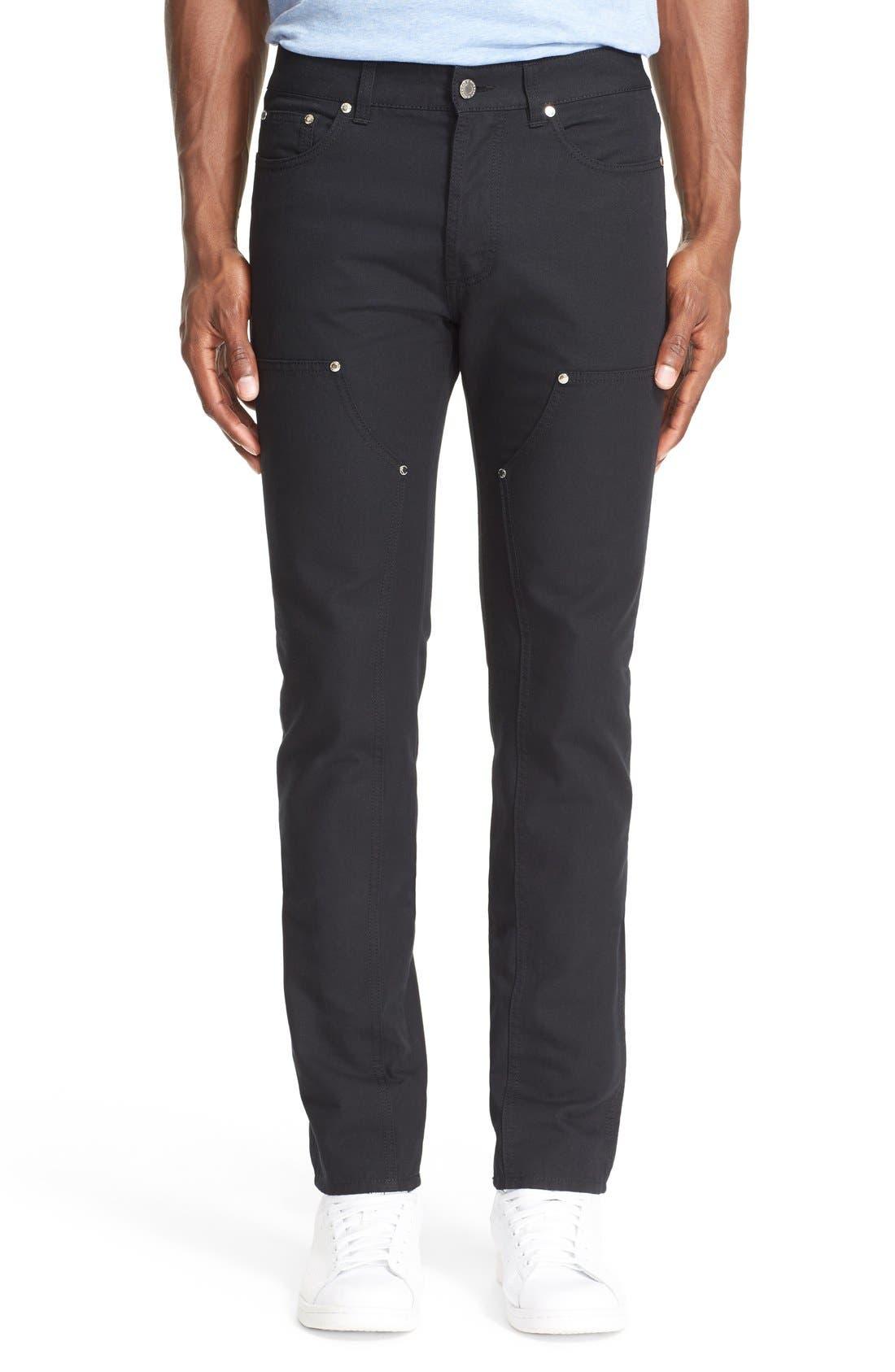 Double Front Work Pants,                         Main,                         color, Black