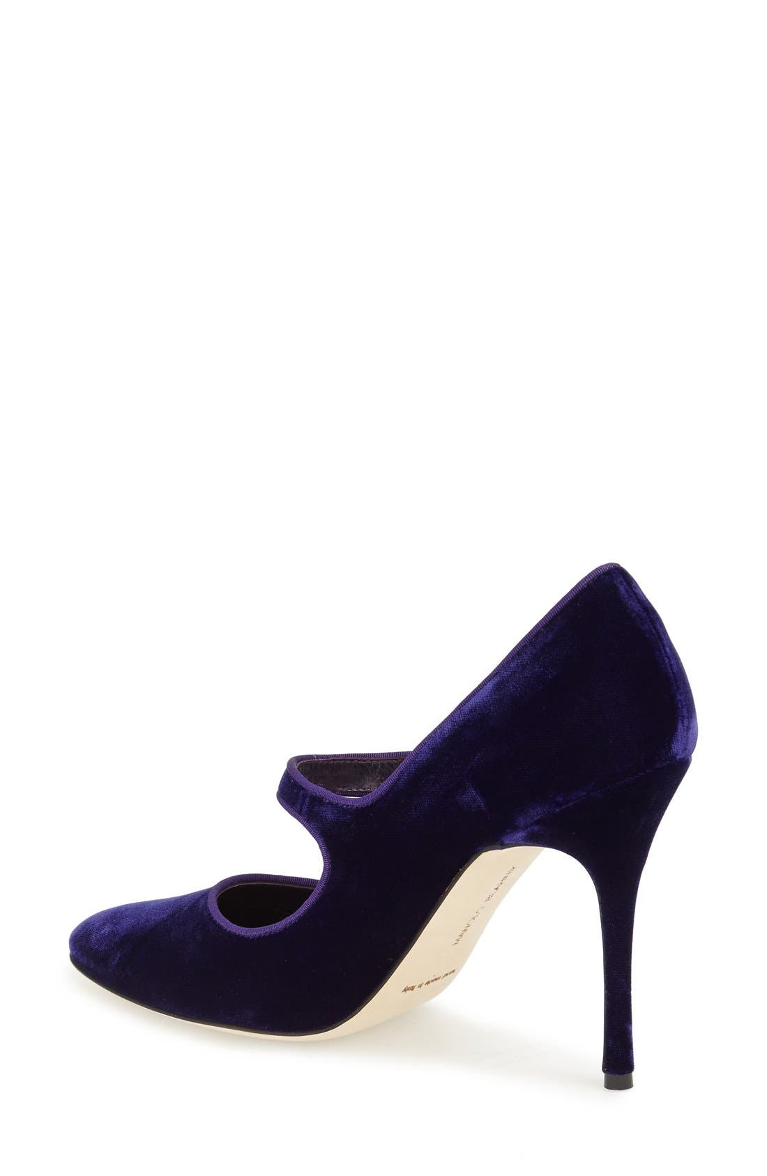 Alternate Image 2  - Manolo Blahnik 'Campy' Velvet Pump (Women) (Nordstrom Exclusive Color)