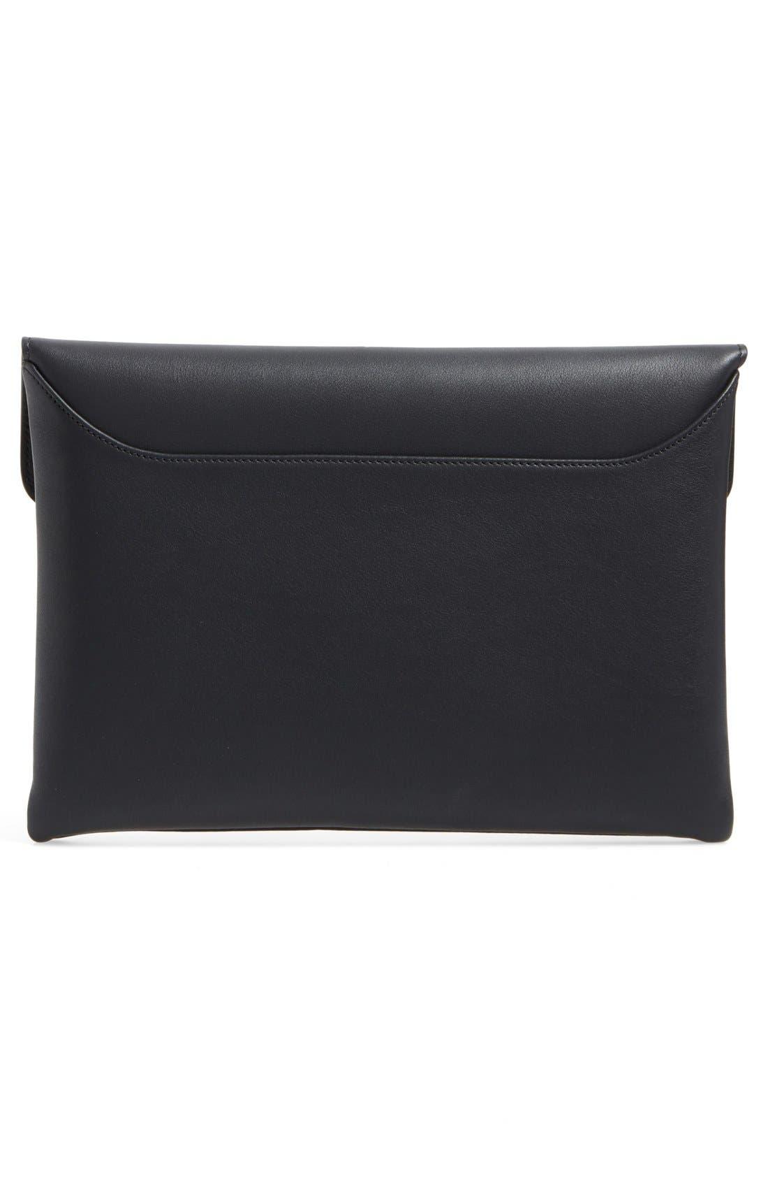 'Medium Antigona' Leather Envelope Clutch,                             Alternate thumbnail 2, color,                             Black