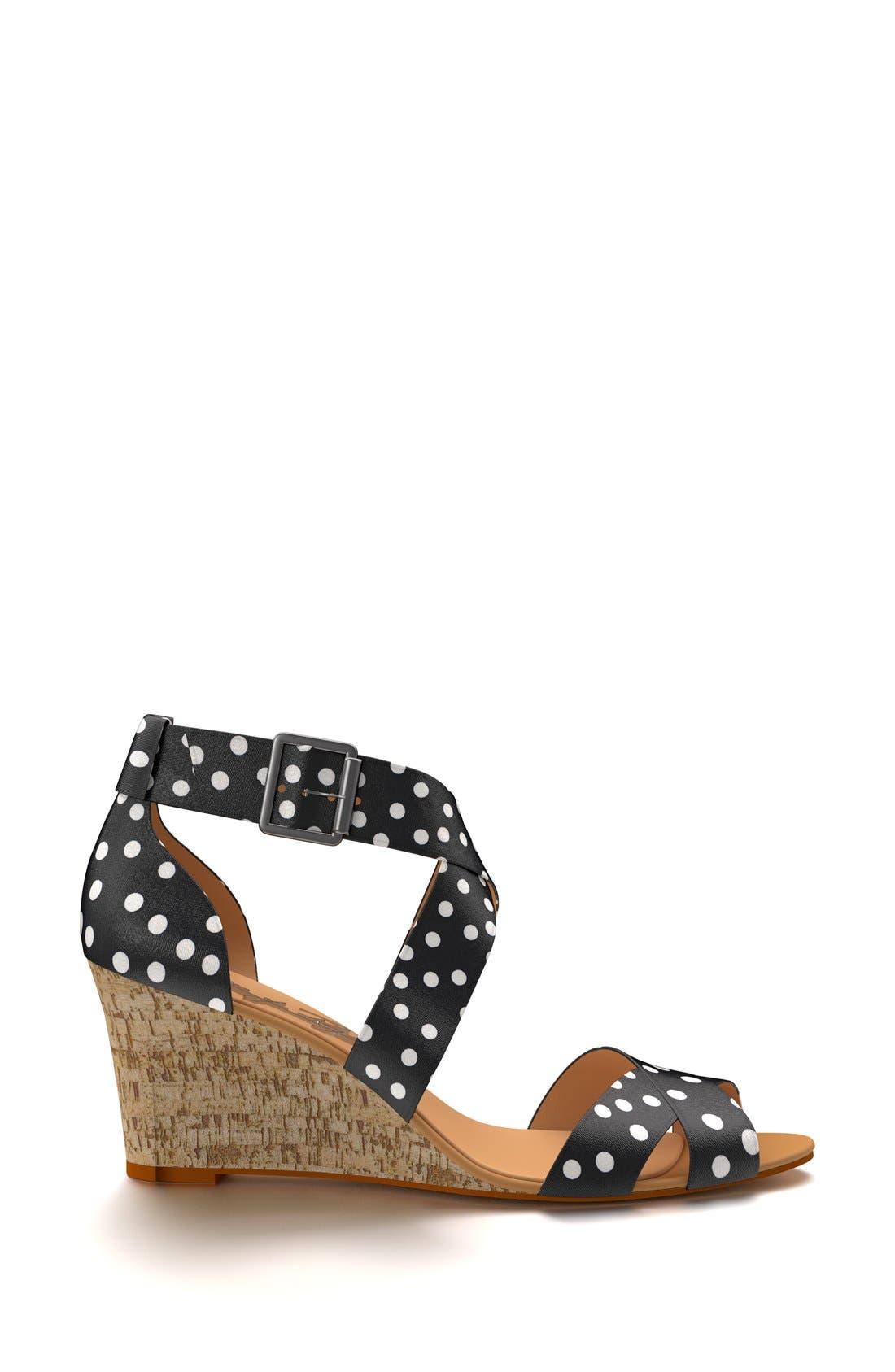 Alternate Image 4  - Shoes of Prey Crisscross Strap Wedge Sandal (Women)