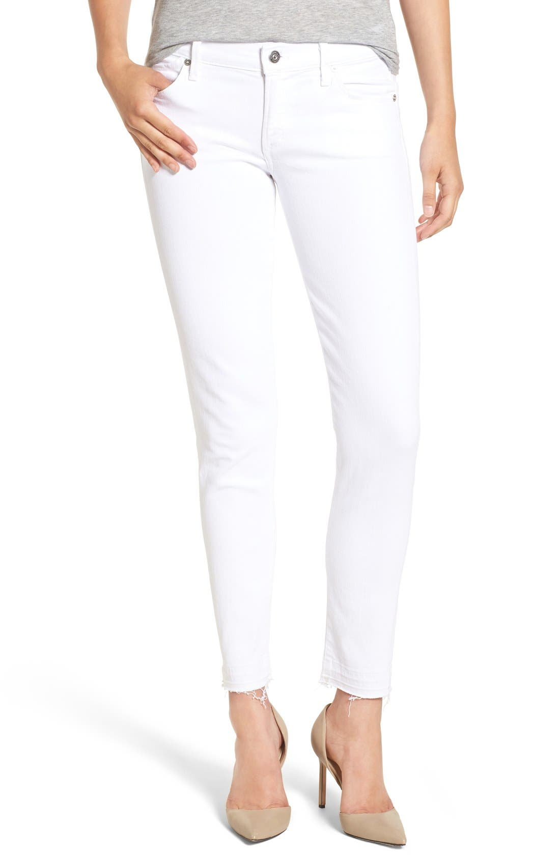 Alternate Image 1 Selected - Citizens of Humanity Skinny Ankle Jeans (Optic White)