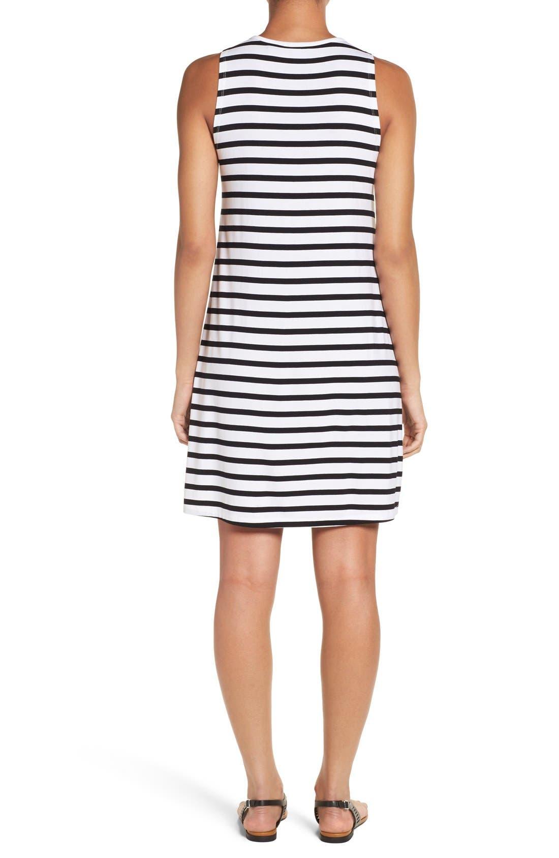 Alternate Image 2  - Press Stripe Sleeveless A-Line Dress