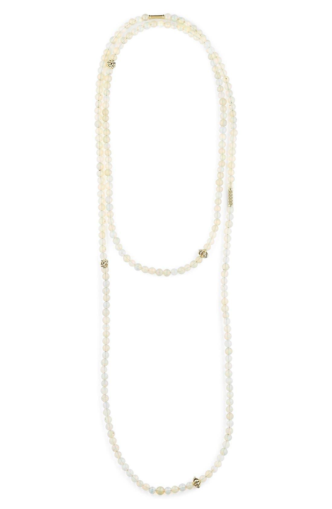 Caviar Icon Multistrand Necklace,                         Main,                         color, Opal/ Gold