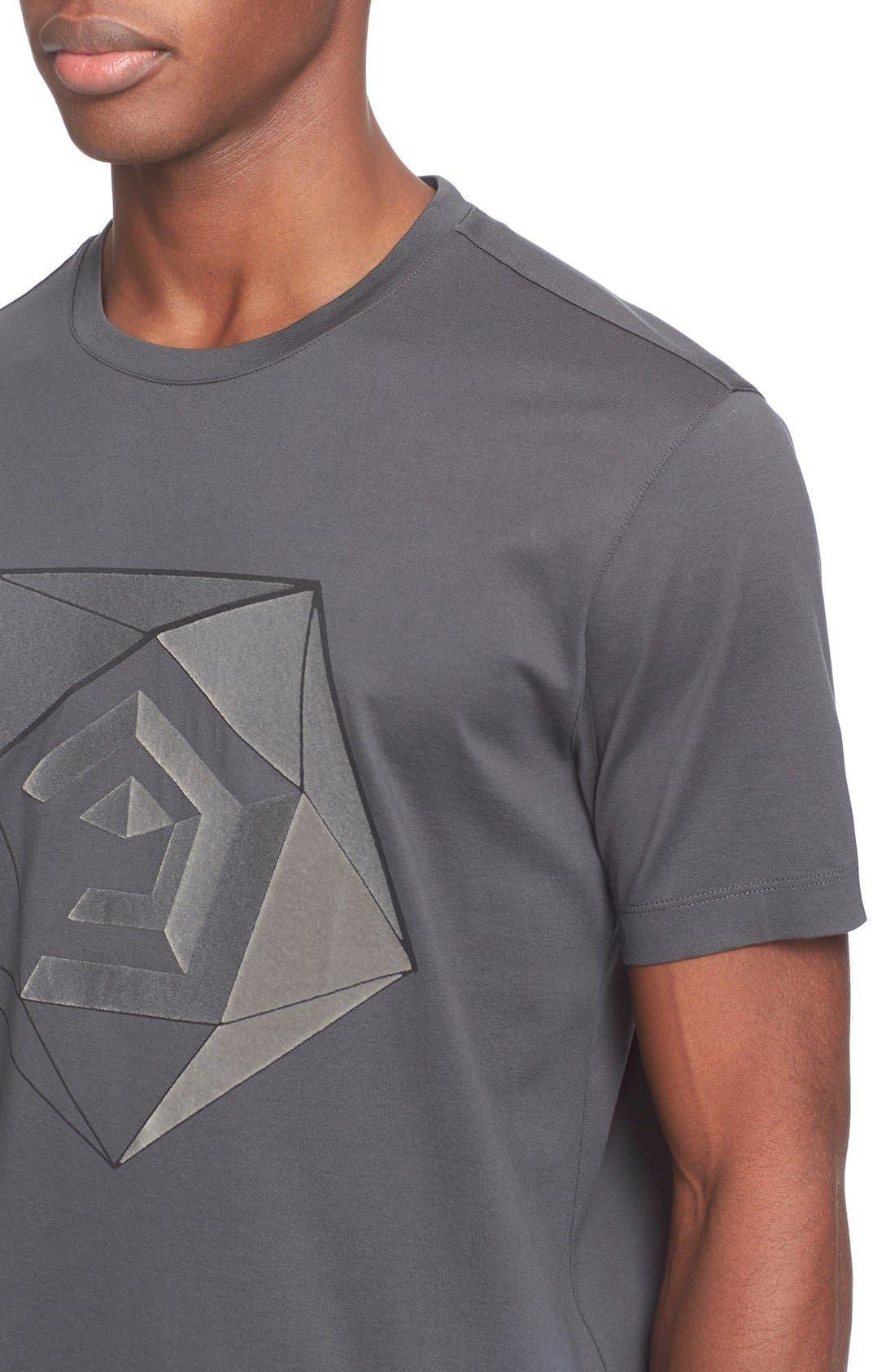 Alternate Image 4  - Z Zegna Flocked Graphic T-Shirt