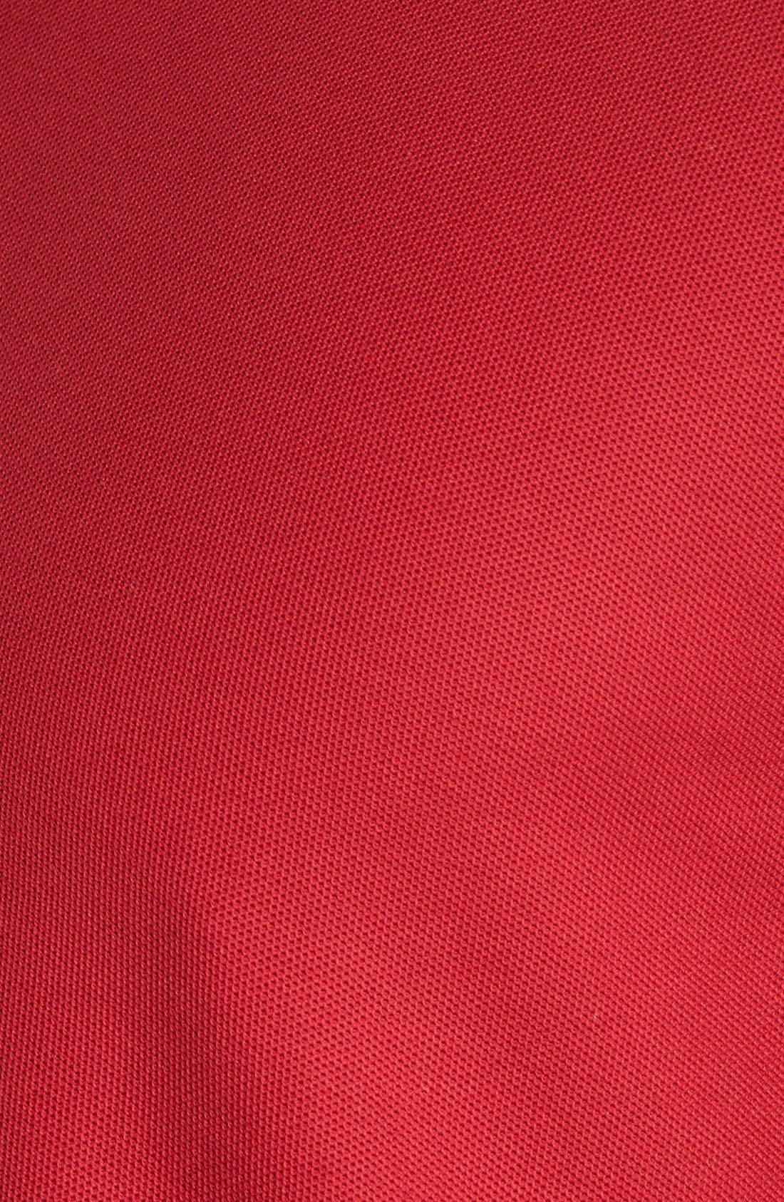 Classic Regular Fit Piqué Polo,                             Alternate thumbnail 5, color,                             Red Rio