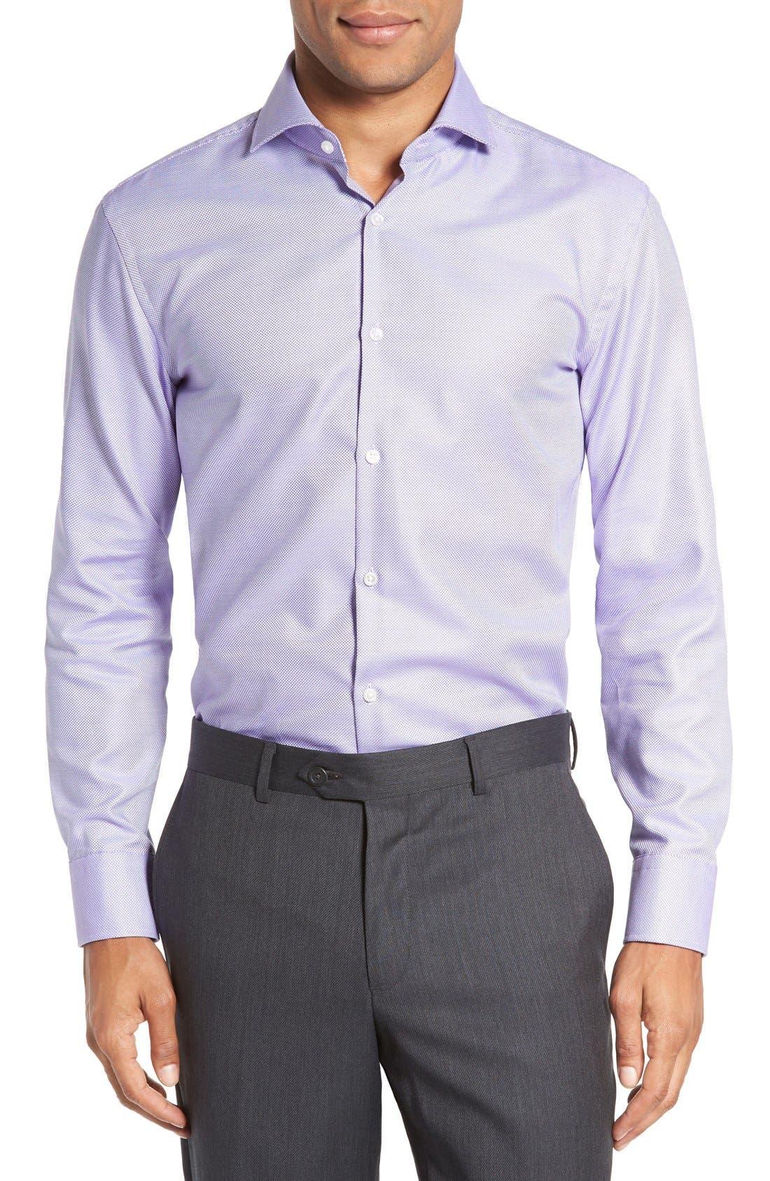 Sharp Fit Dress Shirt,                         Main,                         color, Purple