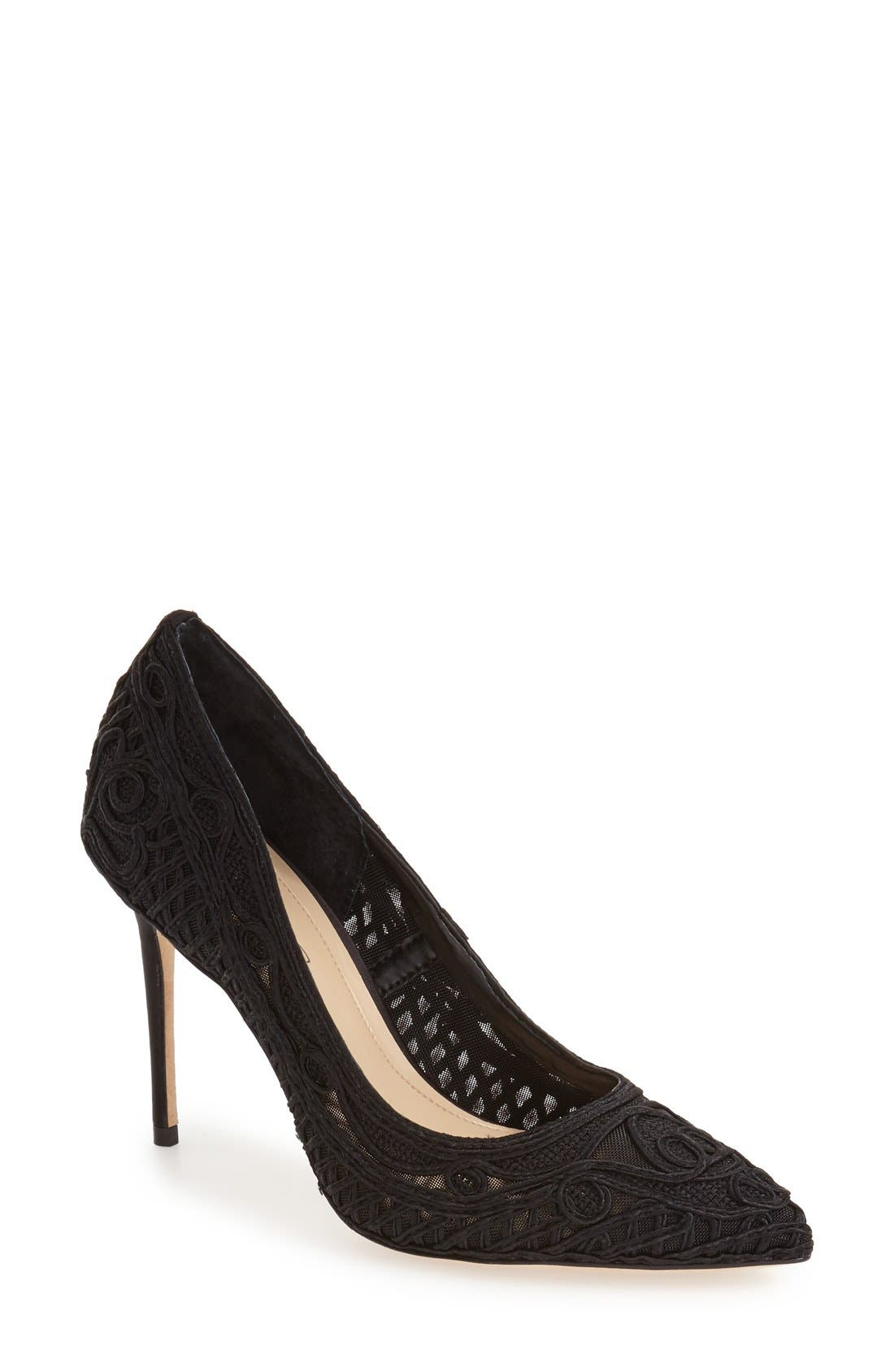 Alternate Image 1 Selected - Imagine by Vince Camuto 'Olivia' Macramé Pointy Toe Pump (Women)
