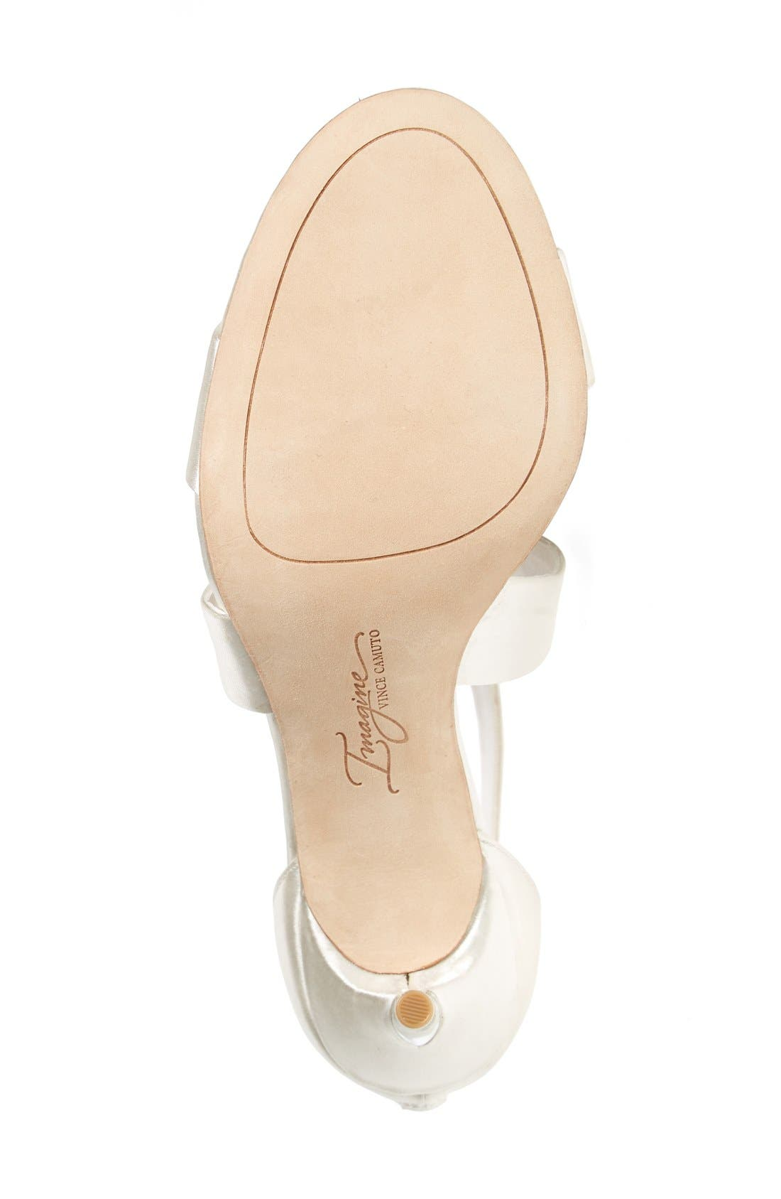 'Pascal' Sandal,                             Alternate thumbnail 4, color,                             Ivory Satin
