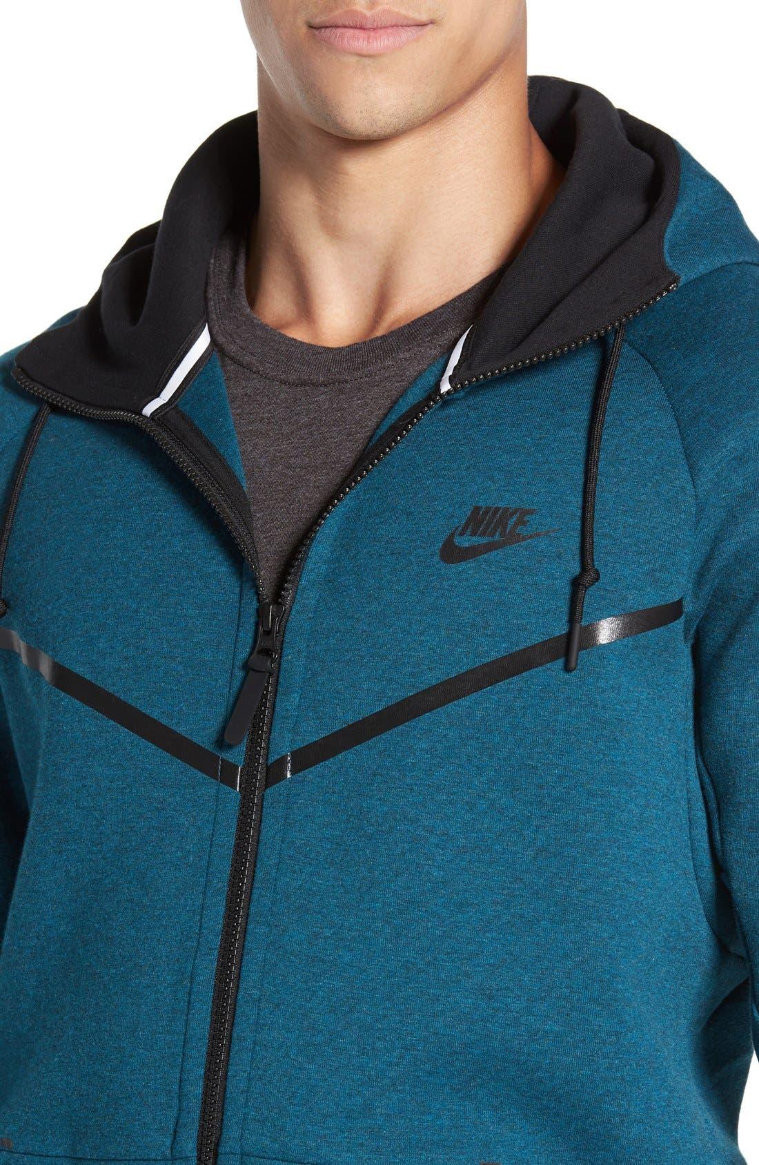 Alternate Image 4  - Nike 'Windrunner' Tech Fleece Hoodie