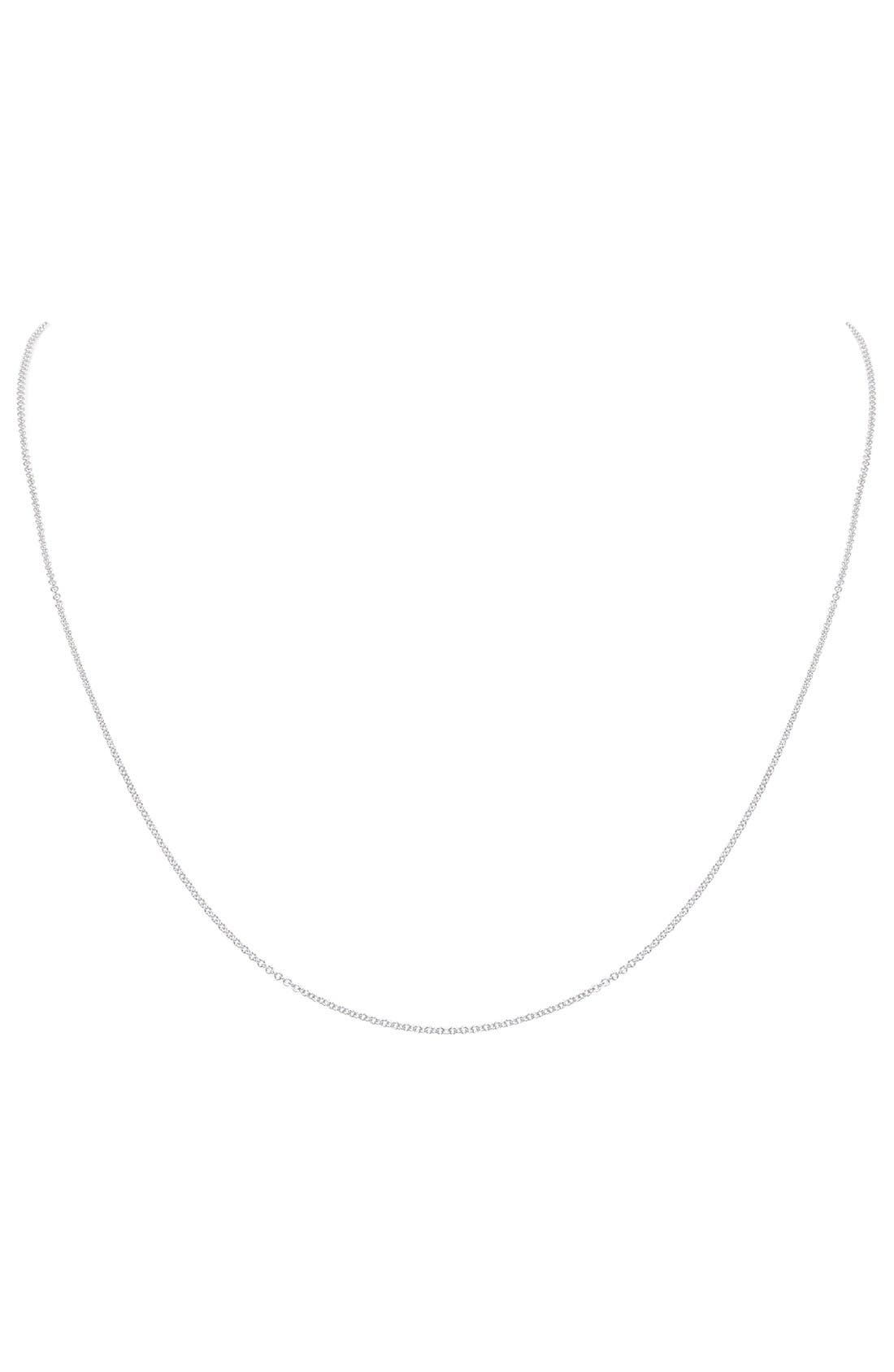 Chain Necklace,                         Main,                         color, White Gold