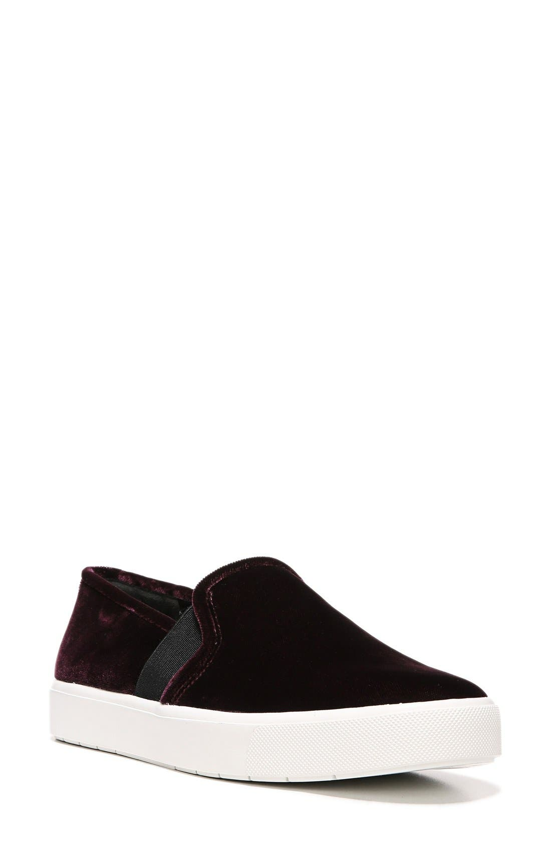 'Blair 12' Slip-On Sneaker,                             Main thumbnail 1, color,                             Oxblood