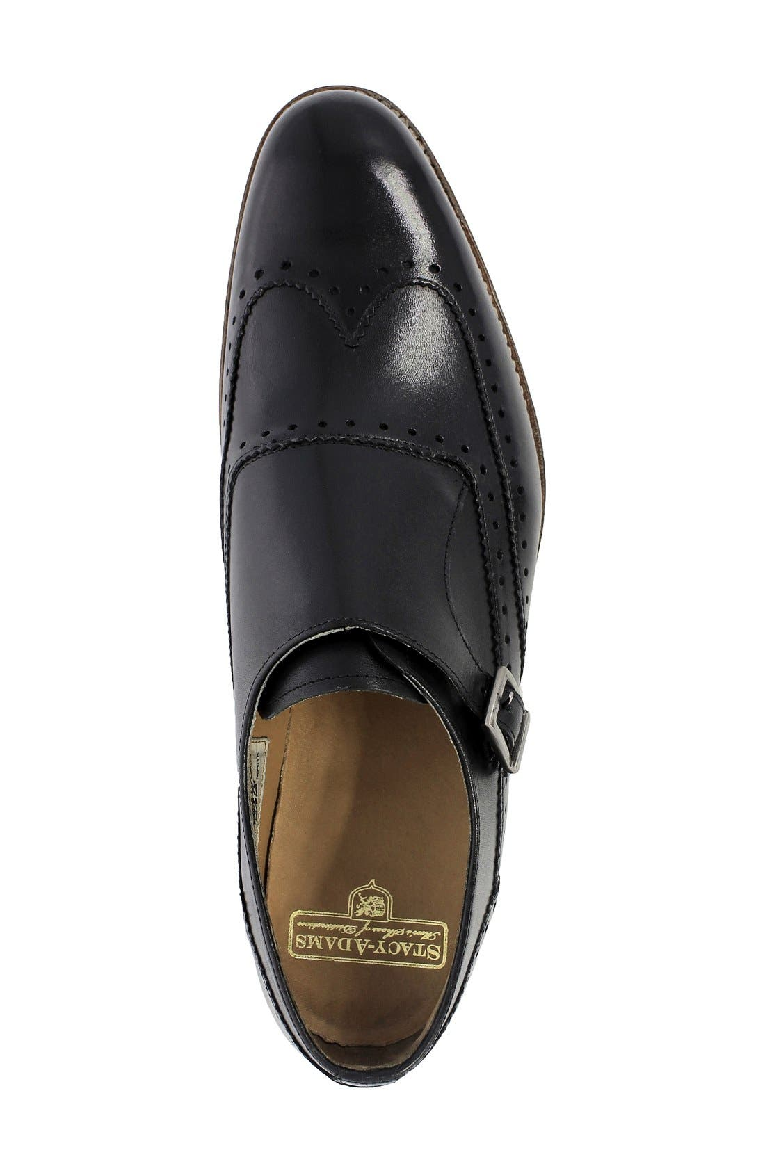 Madison II Monk Strap Shoe,                             Alternate thumbnail 3, color,                             Black