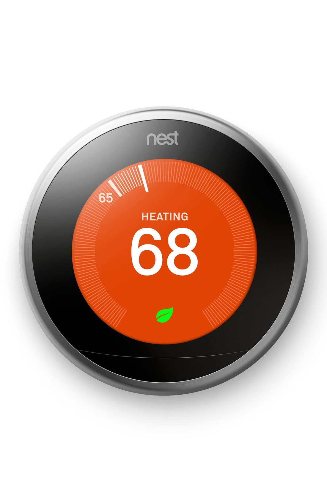Learning Thermostat,                         Main,                         color, Stainless Steel
