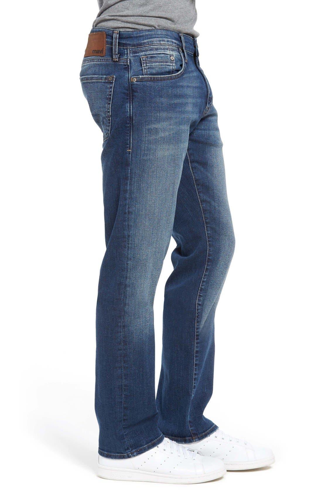 Alternate Image 3  - Mavi Jeans 'Zach' Straight Leg Jeans (Mid Blue)