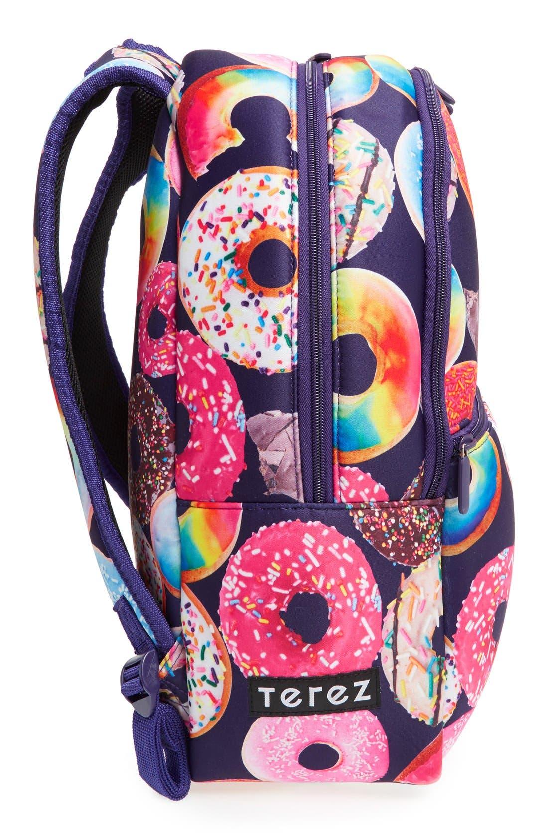 'Donut Shop' Neoprene Backpack,                             Alternate thumbnail 4, color,                             Black Multi