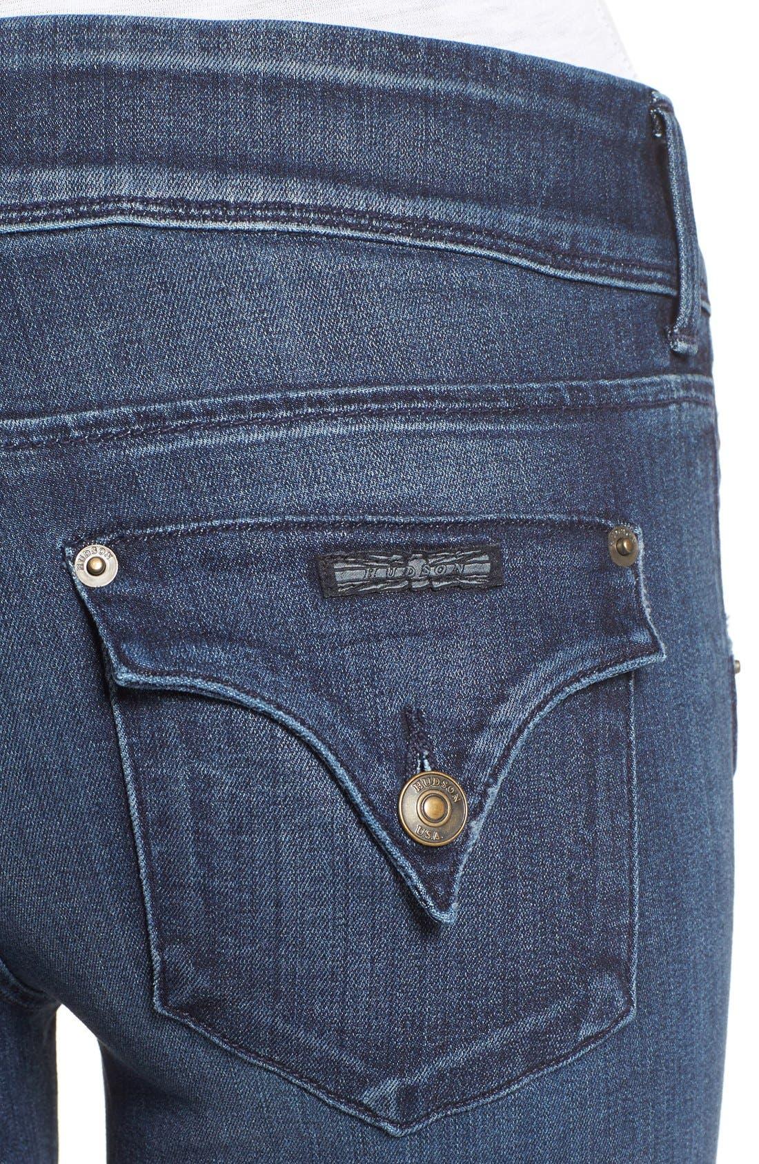Alternate Image 4  - Hudson Jeans 'Collin' Skinny Jeans (Anchor Light)