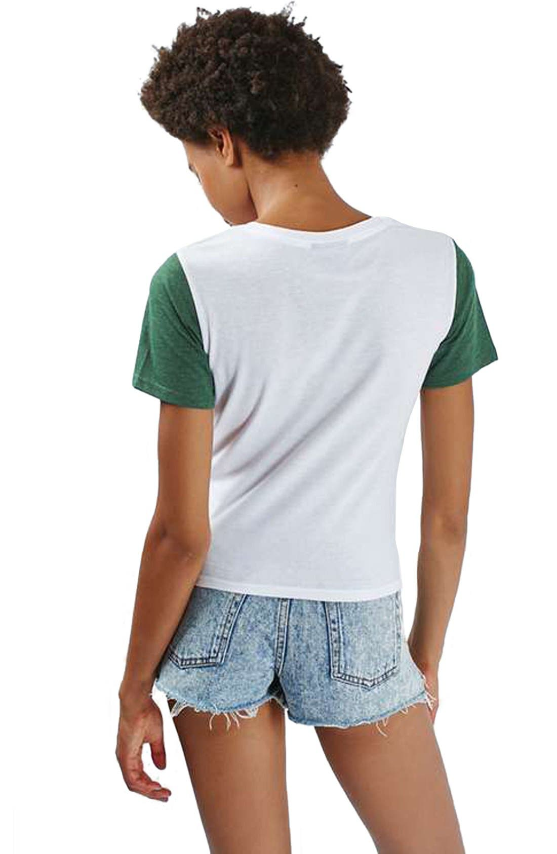 Alternate Image 3  - Topshop Colorblock Tee