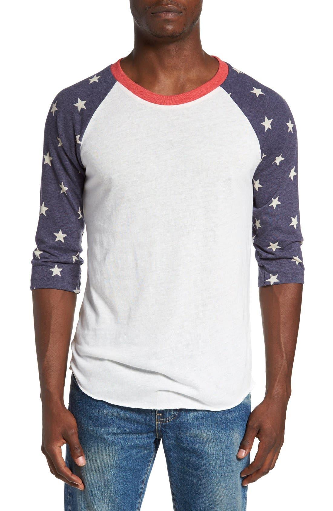 Print Baseball T-Shirt,                             Main thumbnail 1, color,                             Stars