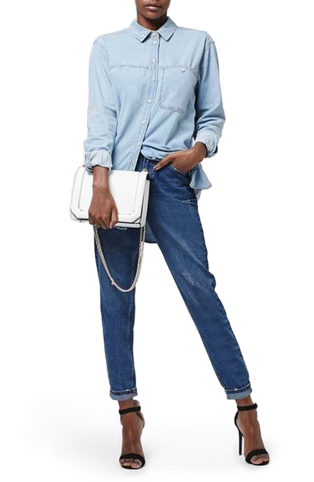 Alternate Image 2  - Topshop 'Mom' High Rise Jeans (Petite)