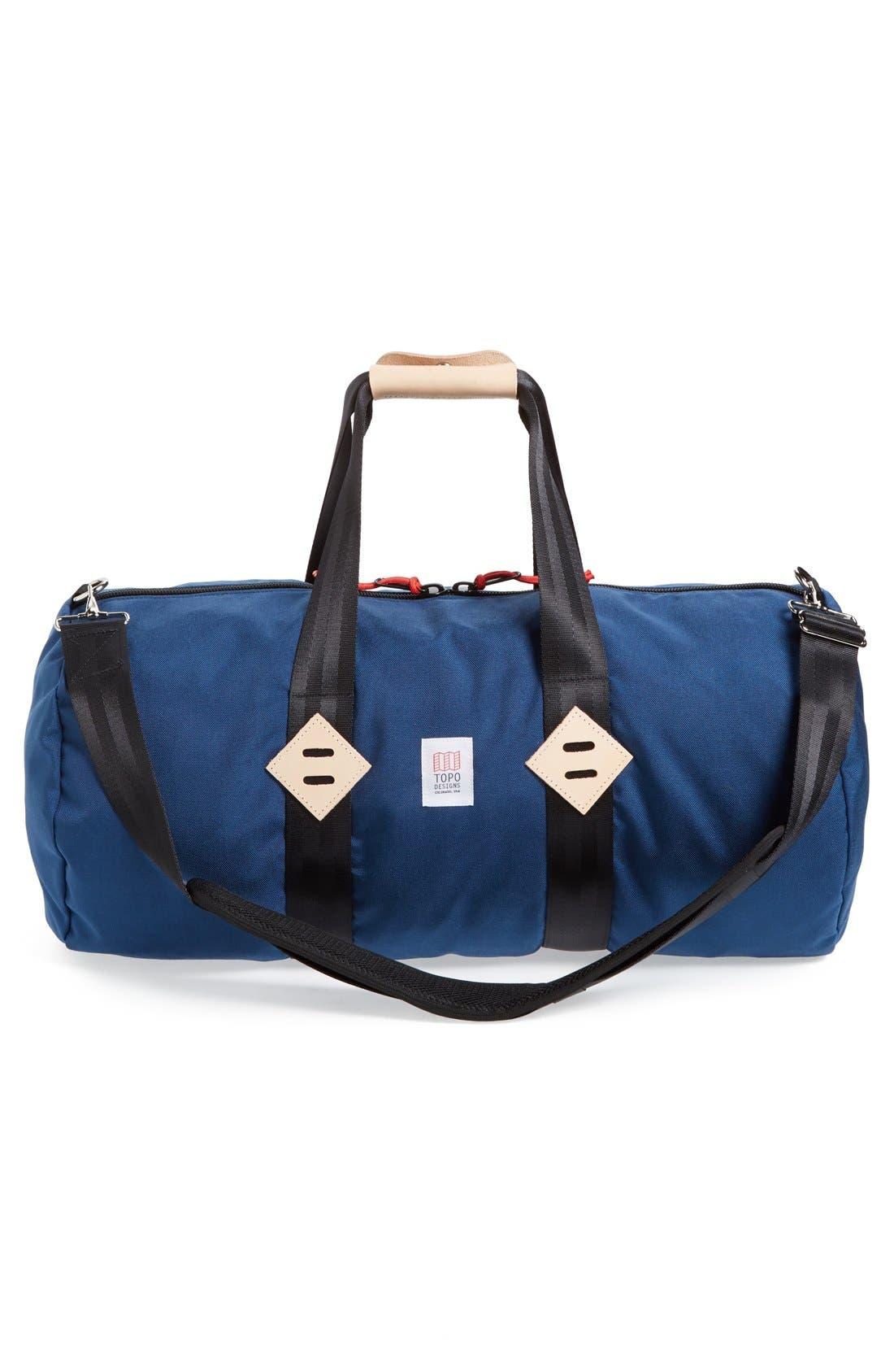 Classic Duffel Bag,                             Alternate thumbnail 3, color,                             Navy
