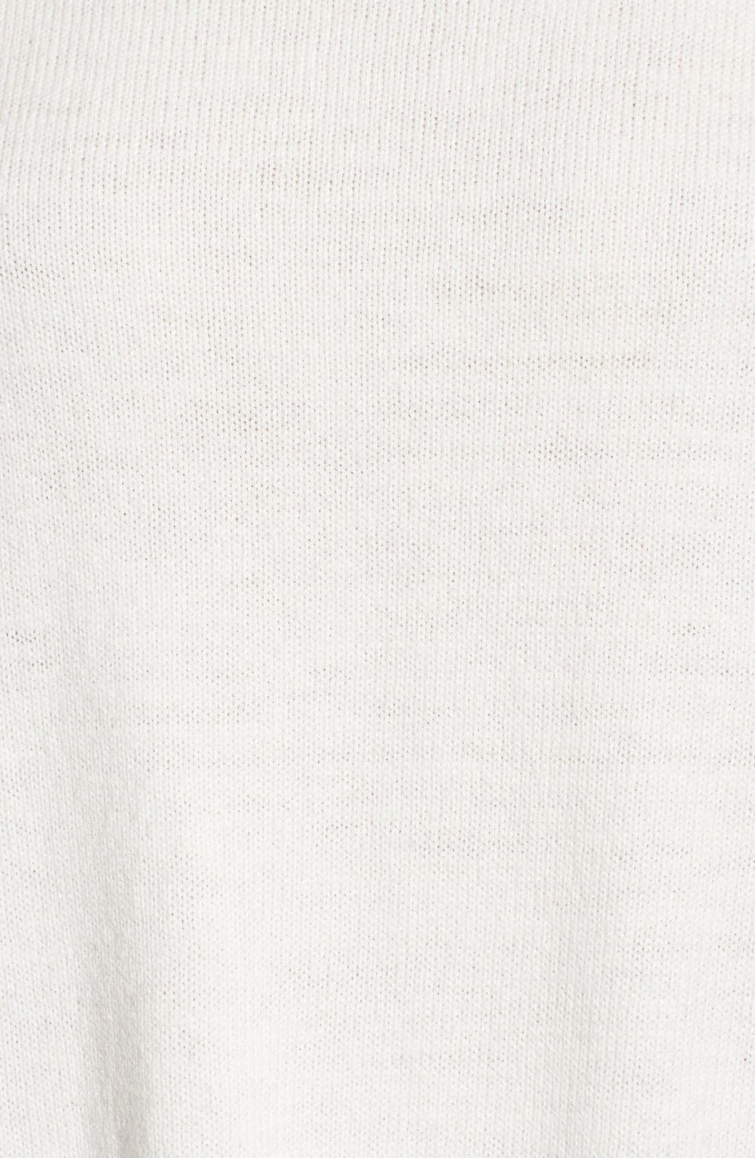 Asymmetrical Hem Sweater,                             Alternate thumbnail 6, color,                             White Snow