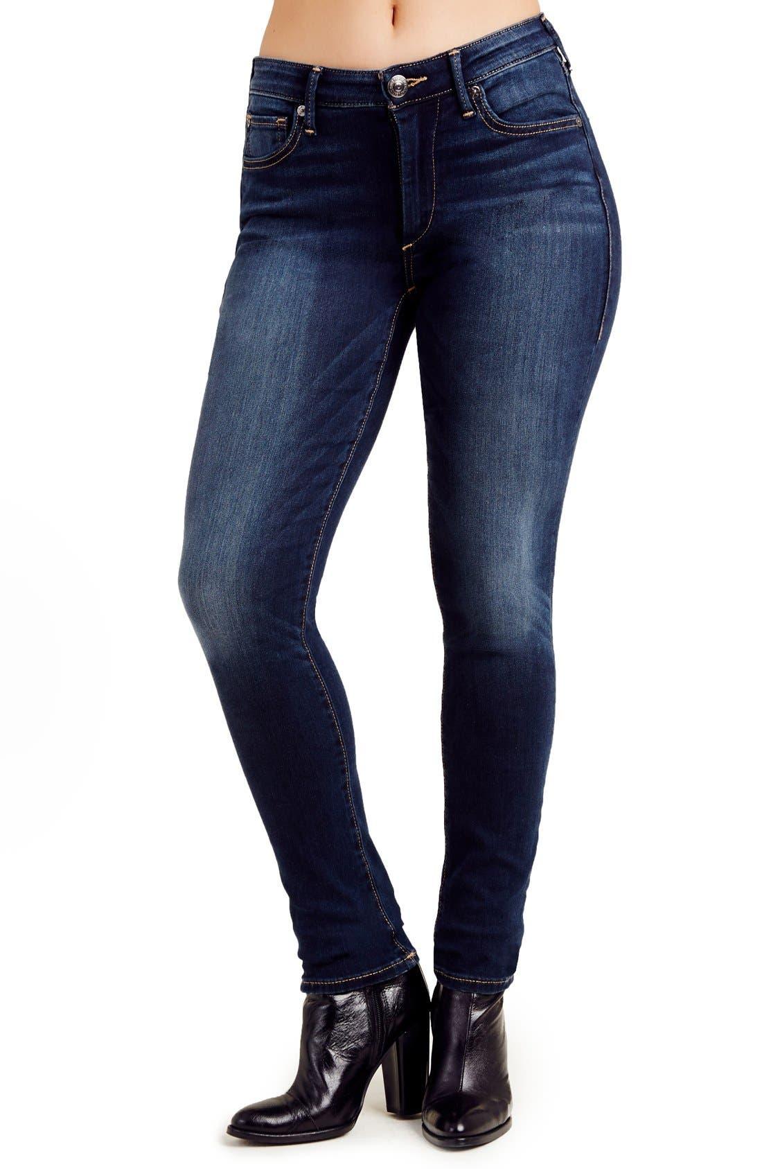 Alternate Image 1 Selected - True Religion Jeans Jennie Curvy Skinny Jeans