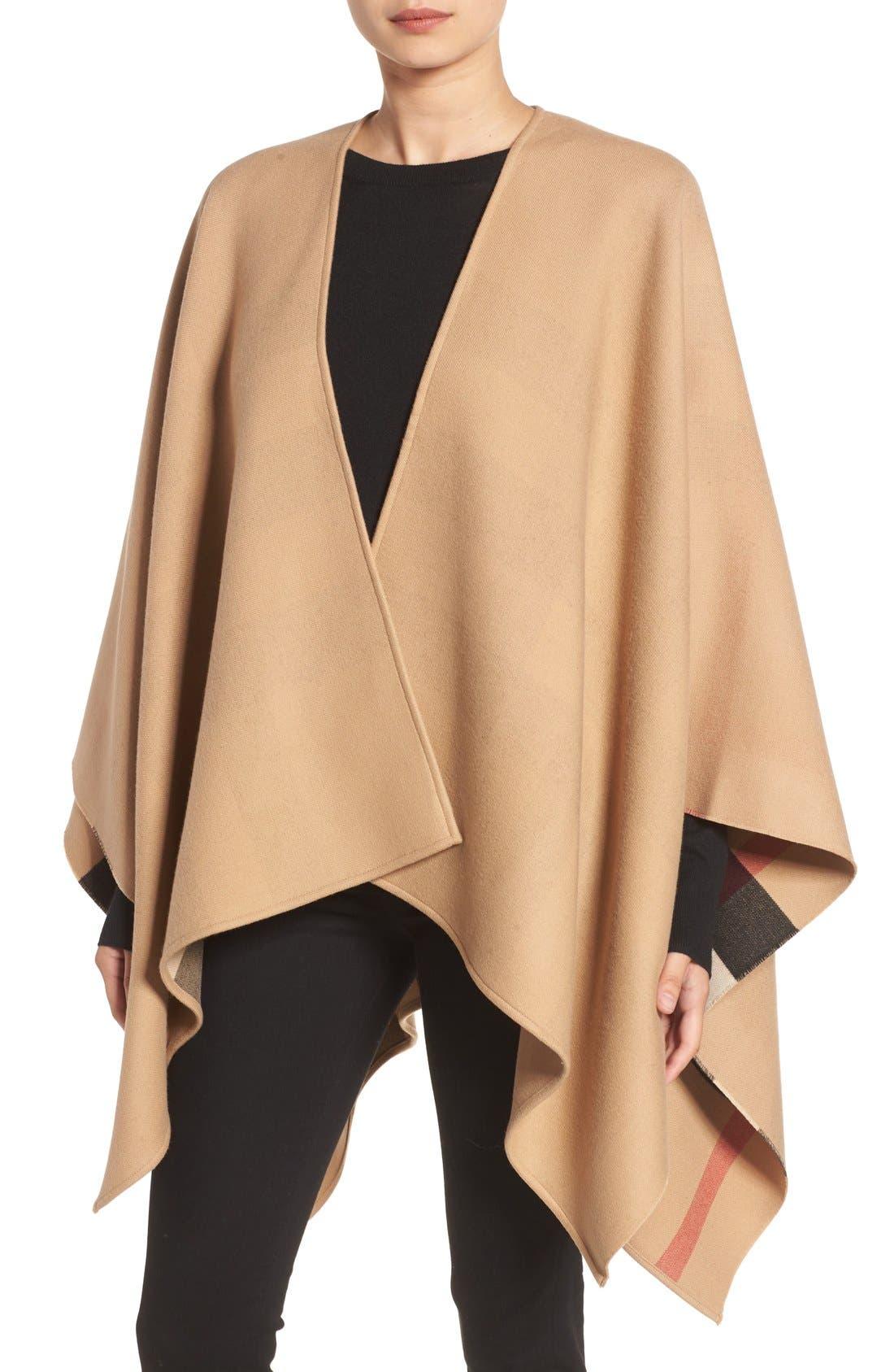 Burberry Reversible Merino Wool Cape