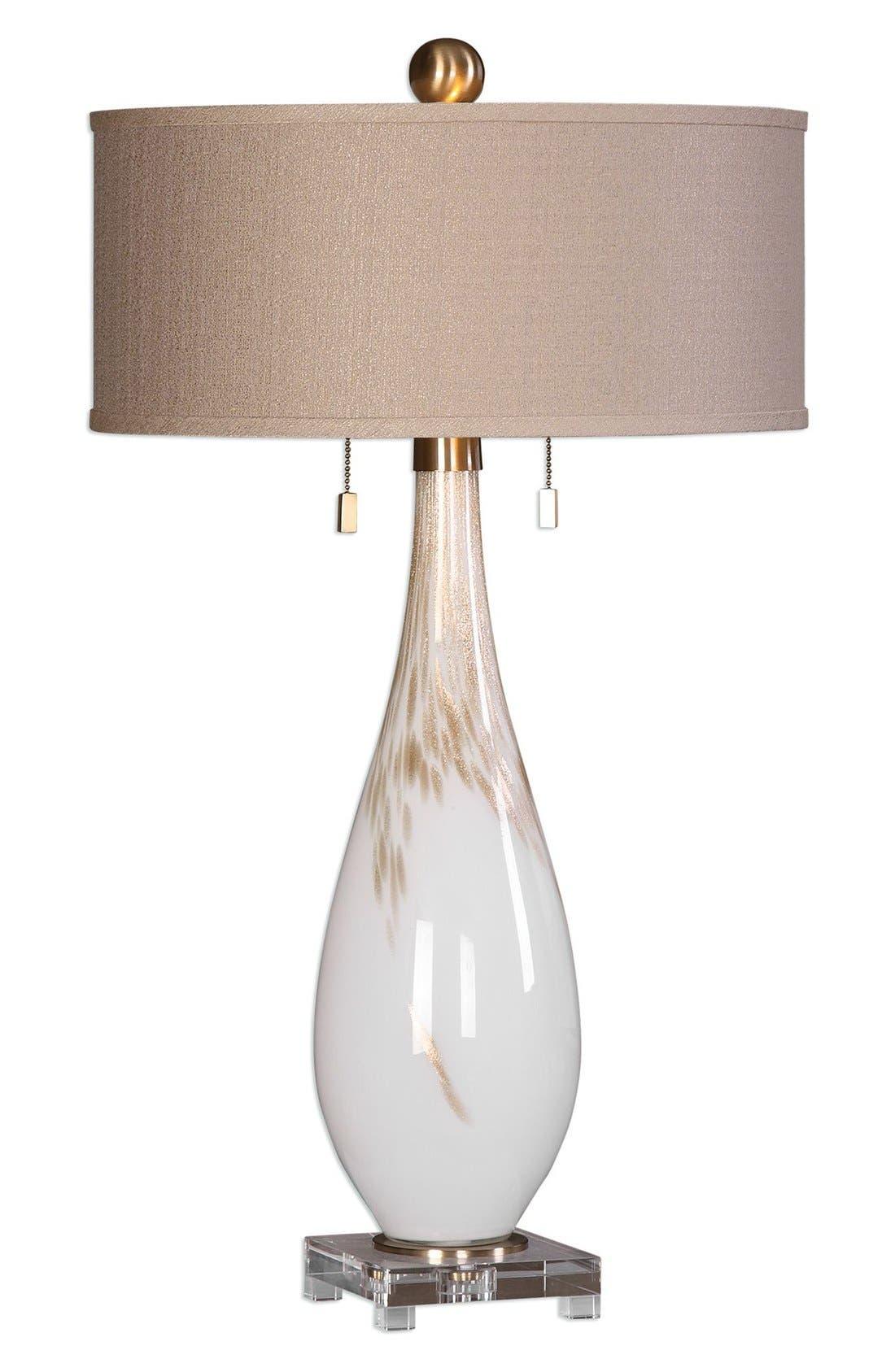 uttermost white glass table lamp - Uttermost Lighting