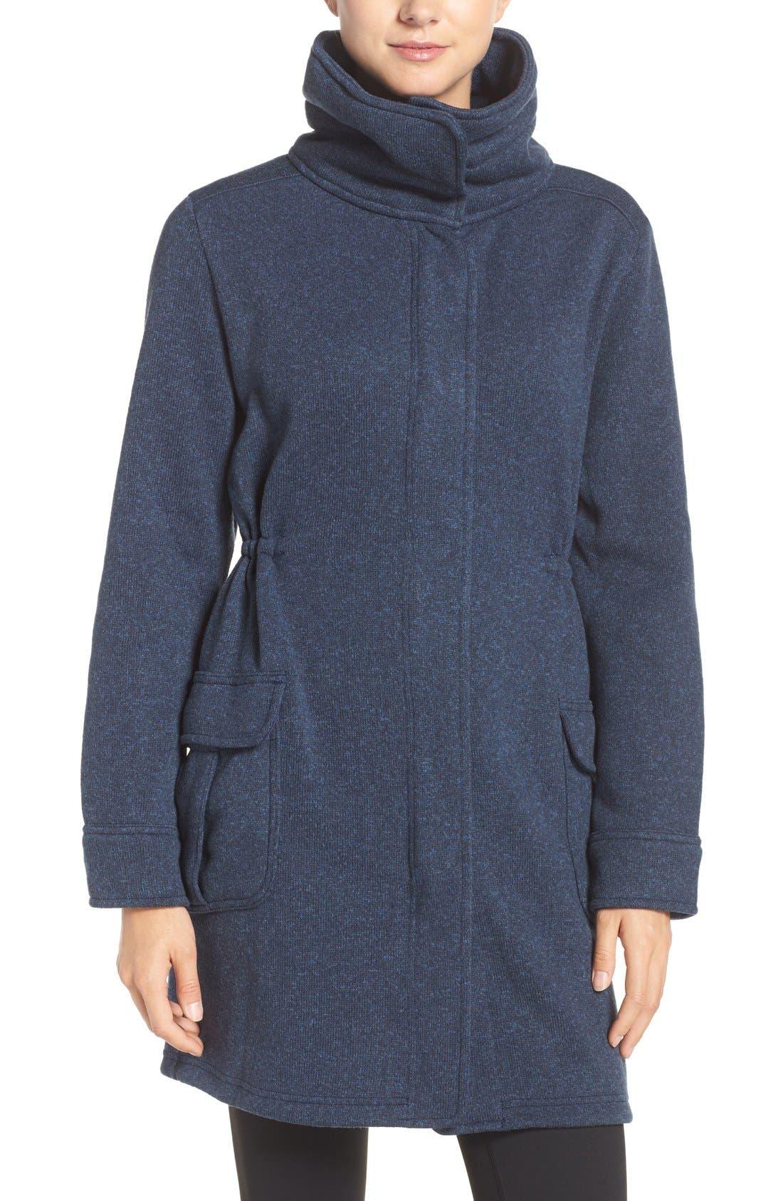 'Better Sweater<sup>®</sup>' Fleece Coat,                             Main thumbnail 1, color,                             Classic Navy