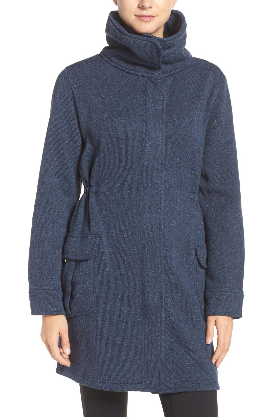 'Better Sweater<sup>®</sup>' Fleece Coat,                         Main,                         color, Classic Navy