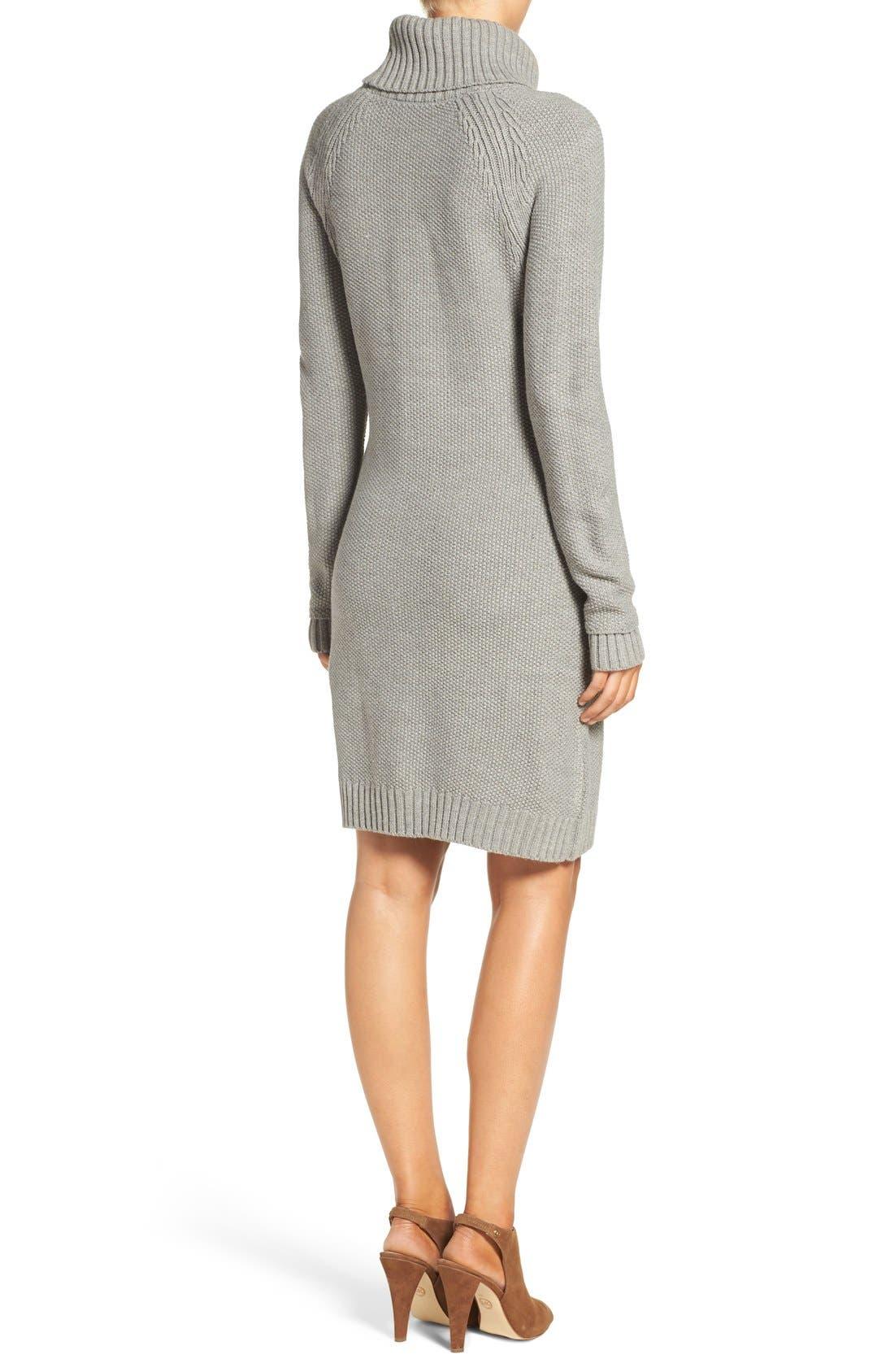 Alternate Image 2  - Eliza J Cable Knit Sweater Dress (Regular & Petite)