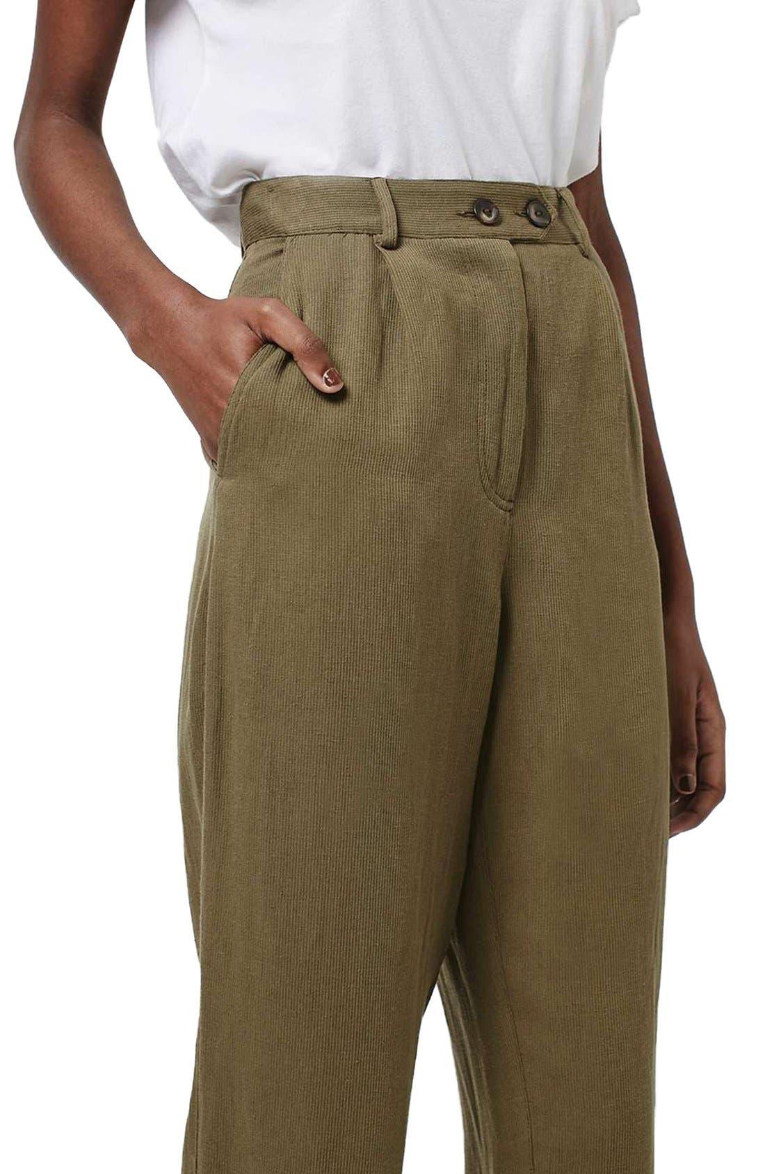 Alternate Image 5  - Topshop 'Mensy' Corduroy Peg Trousers