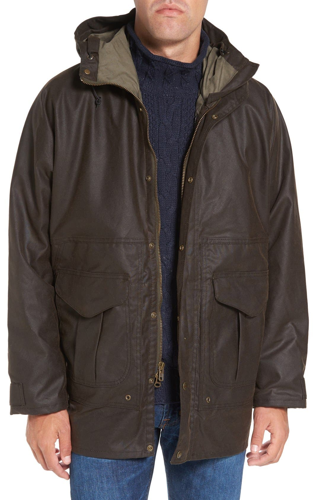 Filson All-Season Waterproof Hooded Raincoat