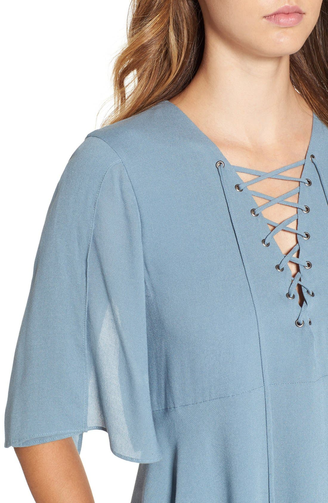 Alternate Image 6  - Lovers + Friends 'Boulevard' Lace-Up Top