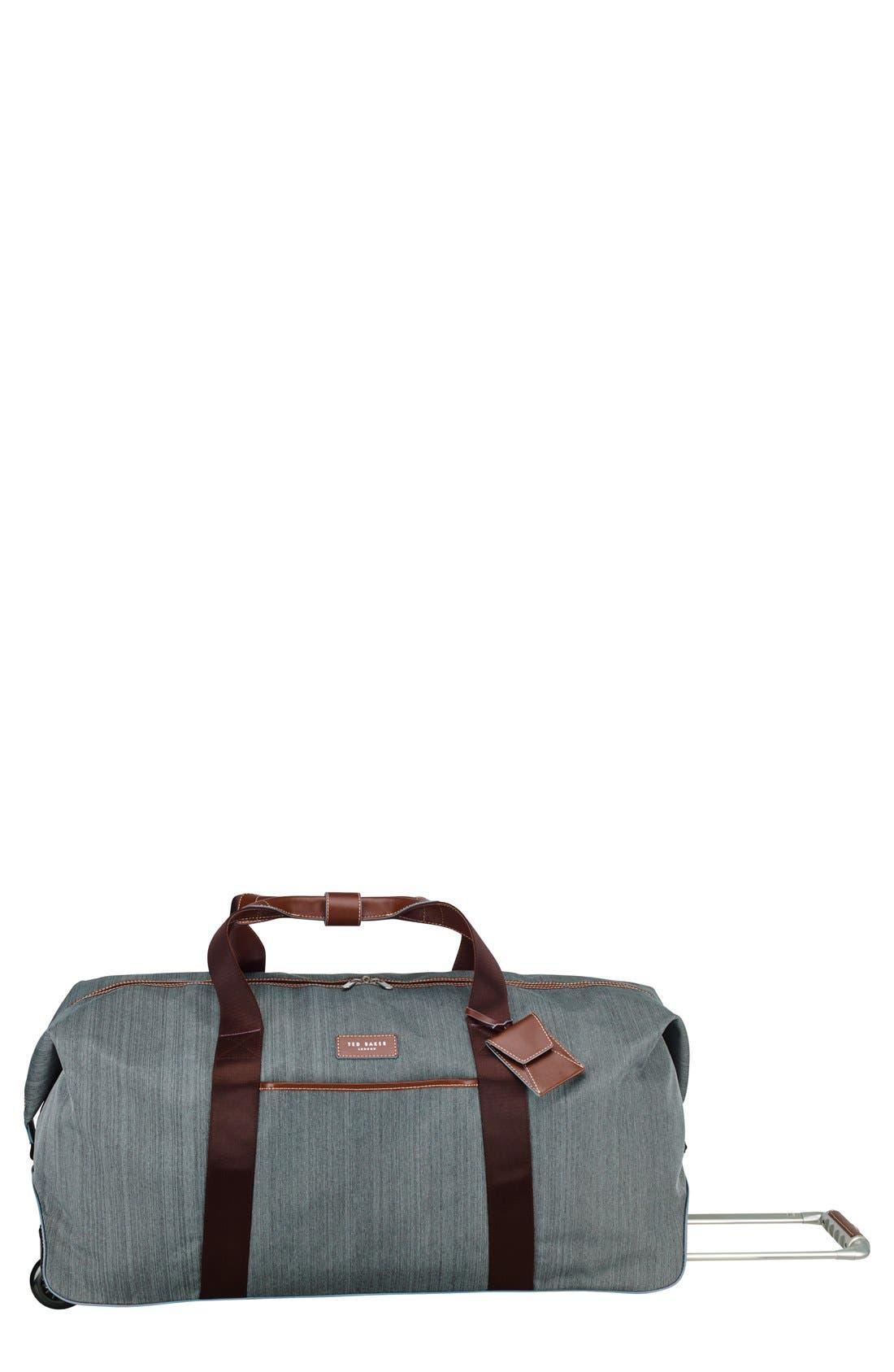 TED BAKER LONDON Large Falconwood Grey Rolling Duffel Bag