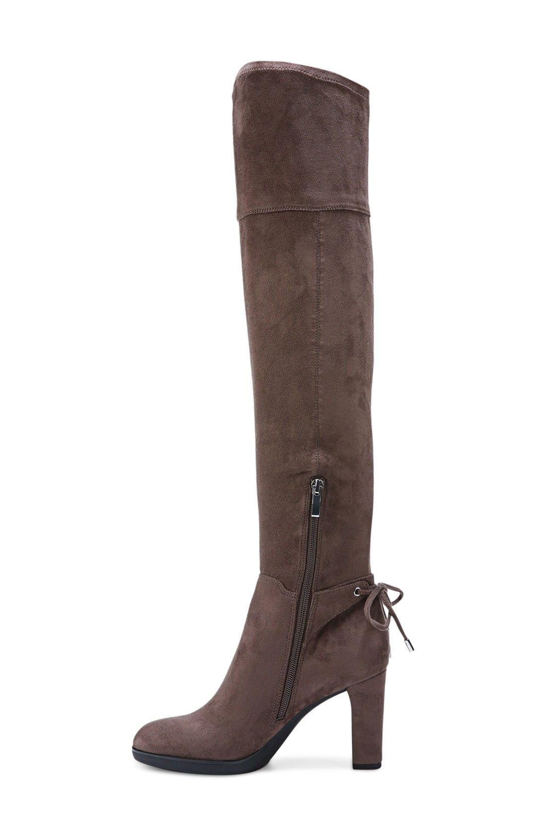 Ivanea Over the Knee Boot,                             Alternate thumbnail 2, color,                             Taupe Suede