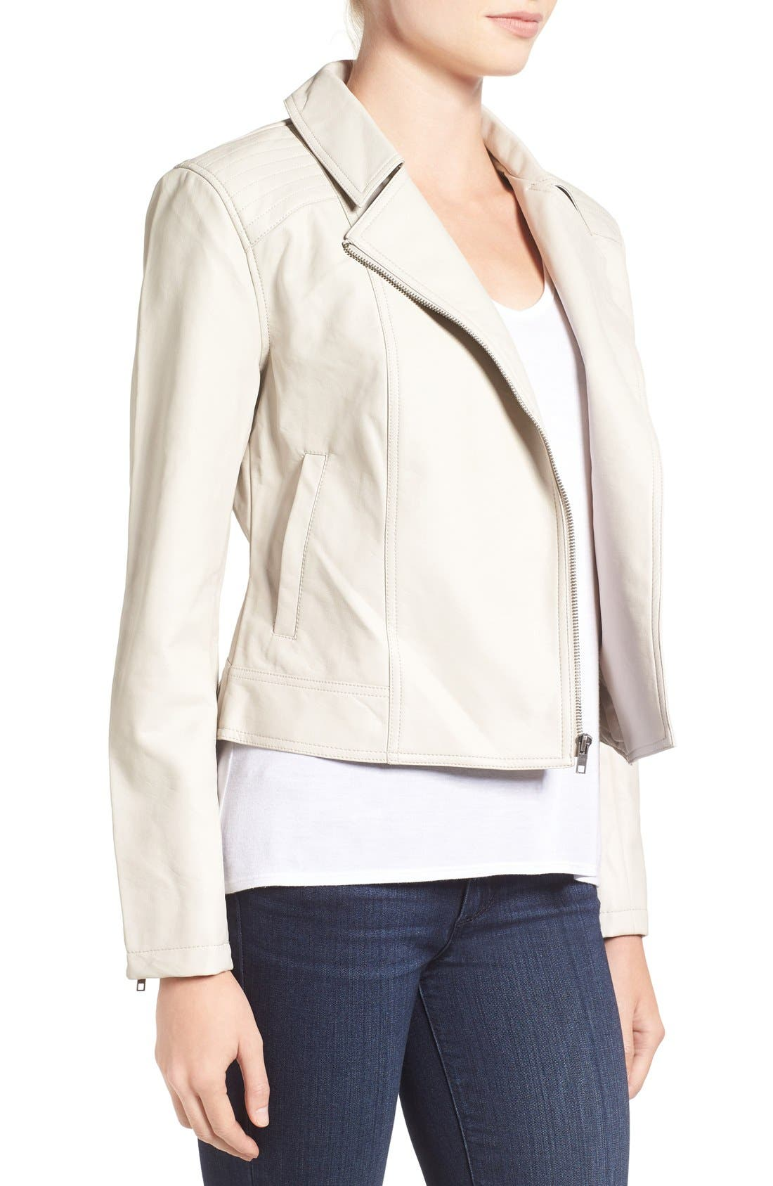Alternate Image 3  - cupcakes and cashmere 'Joslyn' Faux Leather Moto Jacket