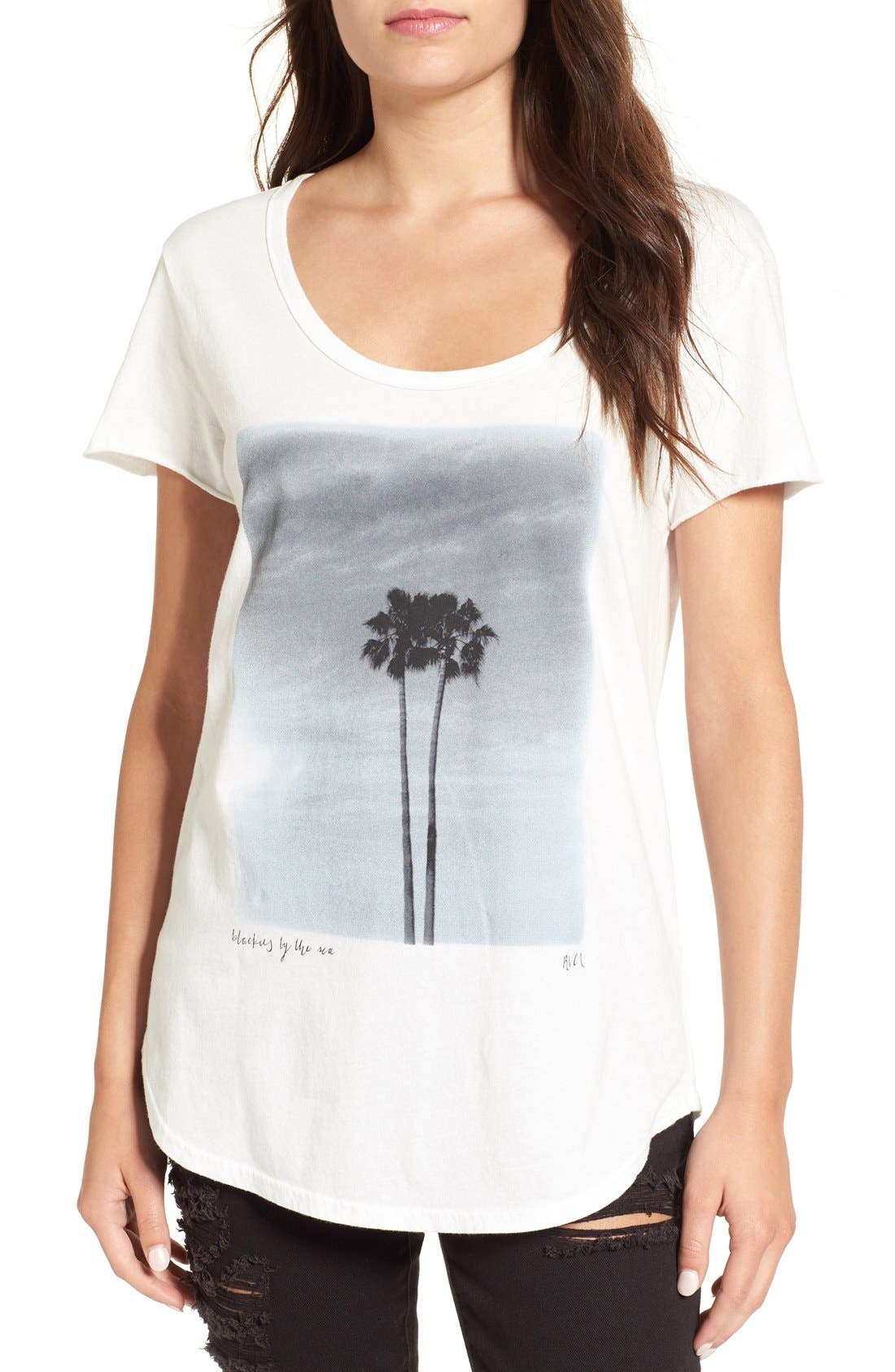 Alternate Image 1 Selected - RVCA 'Twin Palms' Graphic Tee