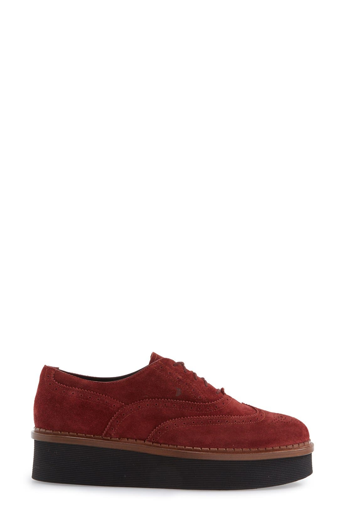 Alternate Image 4  - Tod's 'Lightsole' Creeper Wingtip Oxford (Women) (Nordstrom Exclusive)