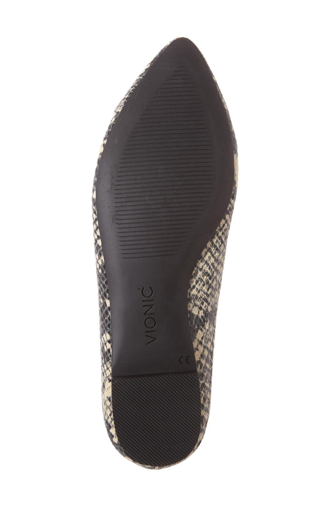 Alternate Image 4  - Vionic 'Caballo' Pointy Toe Flat (Women)