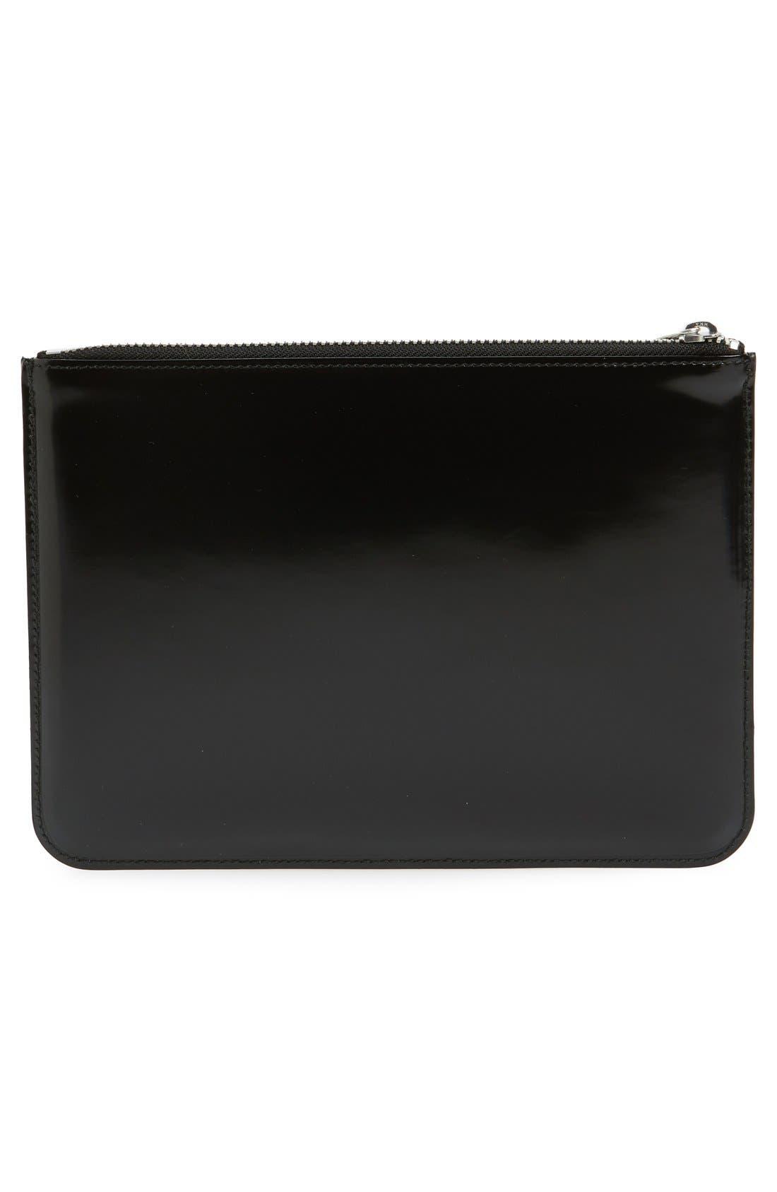 Alternate Image 3  - Comme des Garçons Large Top Zip Leather Pouch