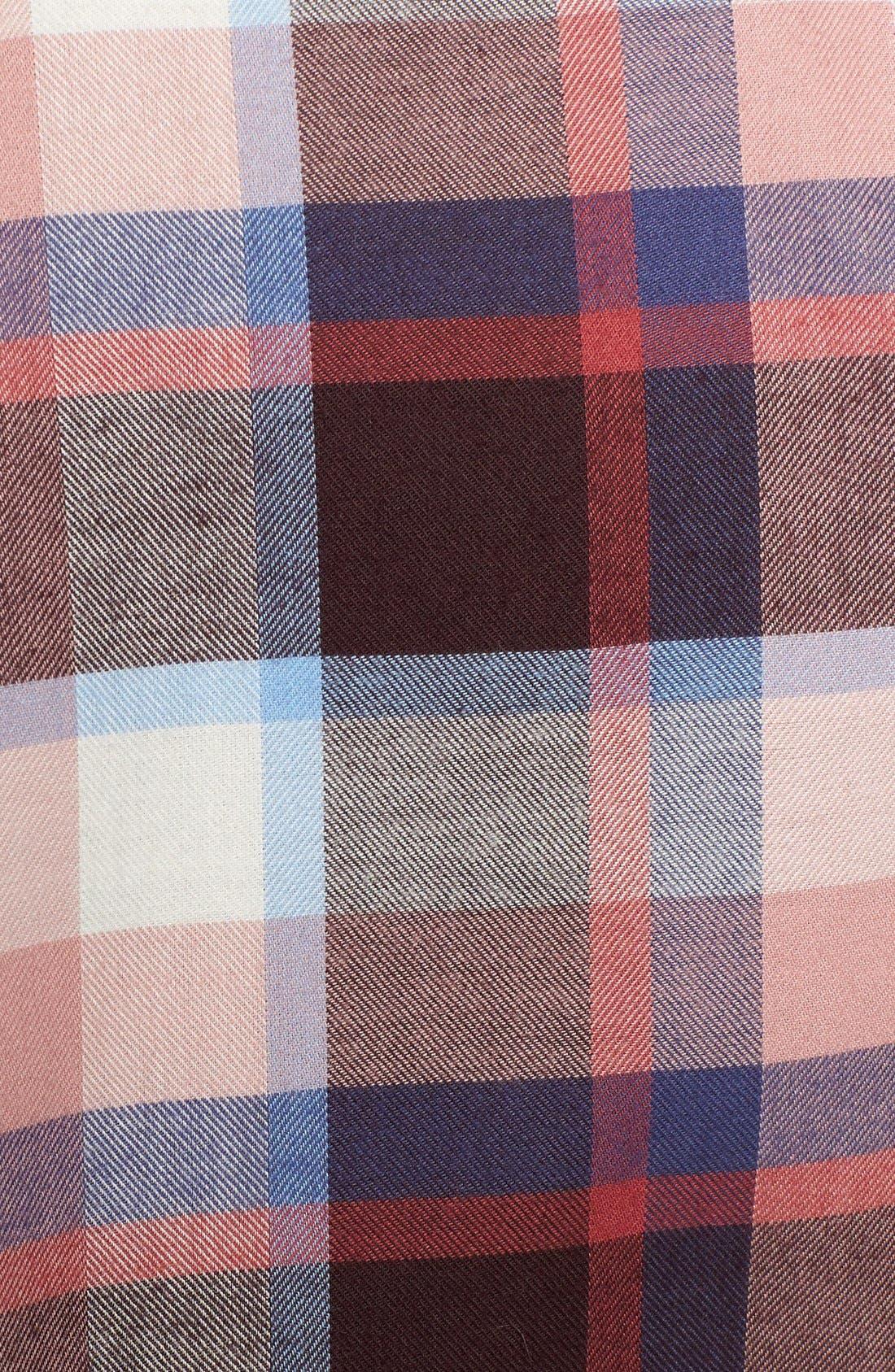 'Darwen' Plaid Shirt,                             Alternate thumbnail 5, color,                             Pink Check