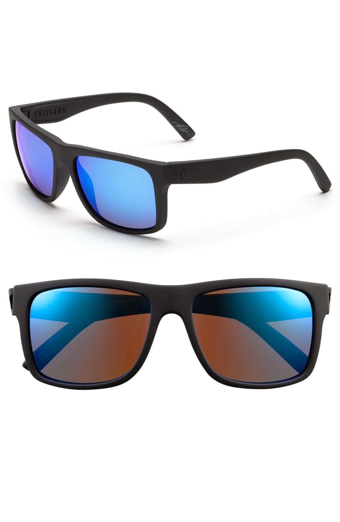 'Swingarm' 57mm Sunglasses,                             Alternate thumbnail 2, color,                             Ohm Grey/ Blue Chrome
