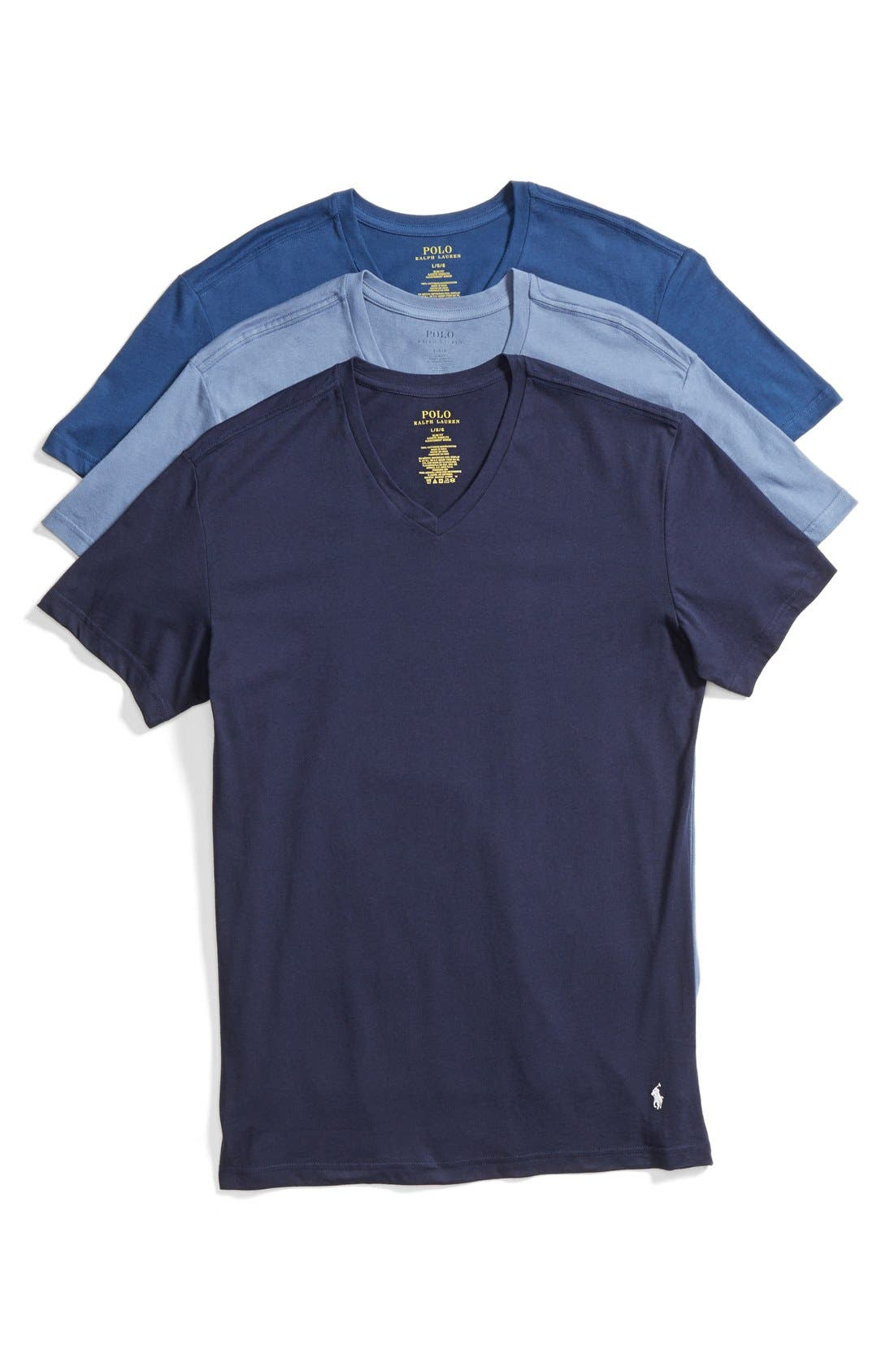 Main Image - Polo Ralph Lauren 3-Pack Trim Fit T-Shirt