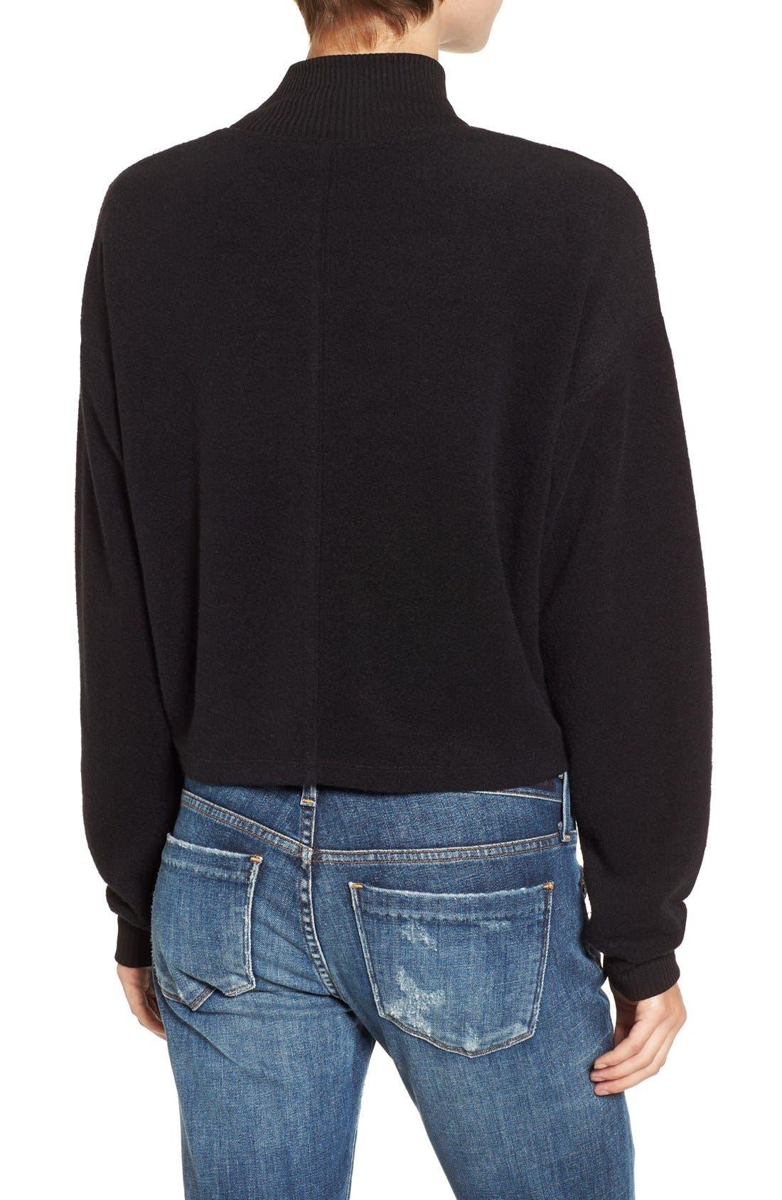 Alternate Image 2  - Chloe & Katie Patch Mock Neck Sweatshirt