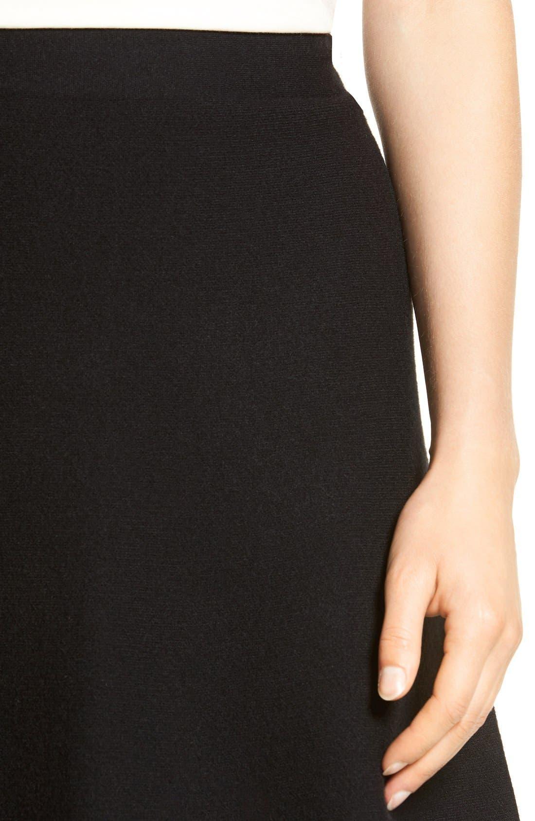 Alternate Image 5  - Halogen® Knit Skater Skirt (Regular & Petite)