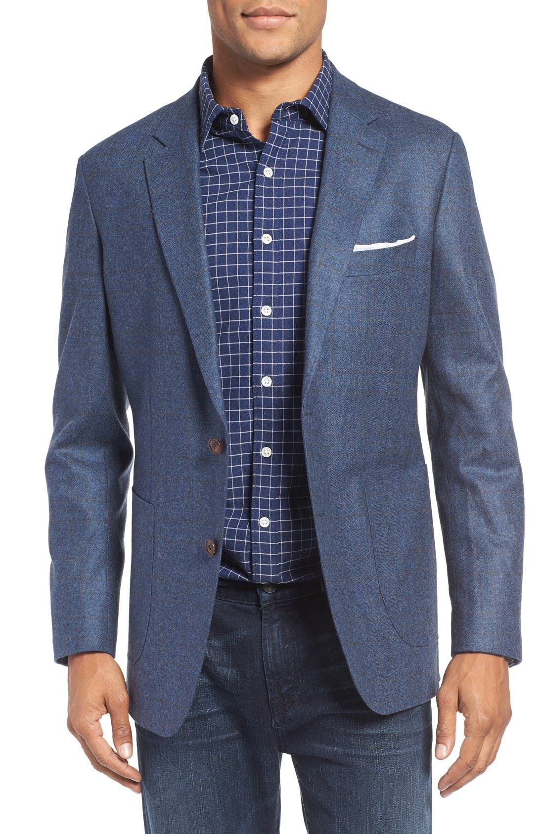 Alternate Image 1 Selected - Rodd & Gunn 'Clareinch' Herringbone Plaid Sport Coat