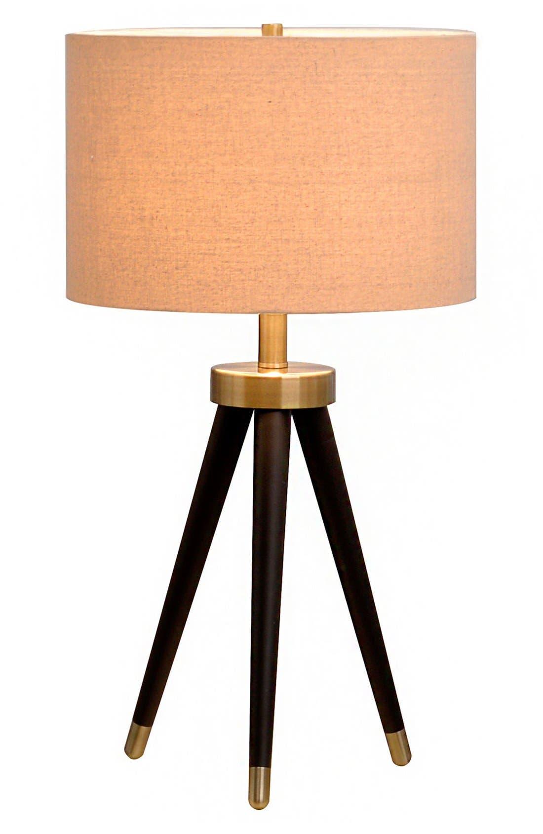 JAlexander Tripod Table Lamp,                             Main thumbnail 1, color,                             Black