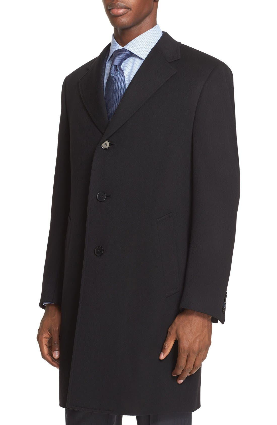 Alternate Image 4  - Canali Classic Fit Wool & Cashmere Topcoat