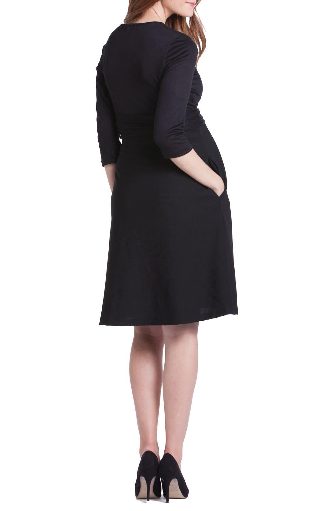 Abby Maternity/Nursing Dress,                             Alternate thumbnail 2, color,                             Black